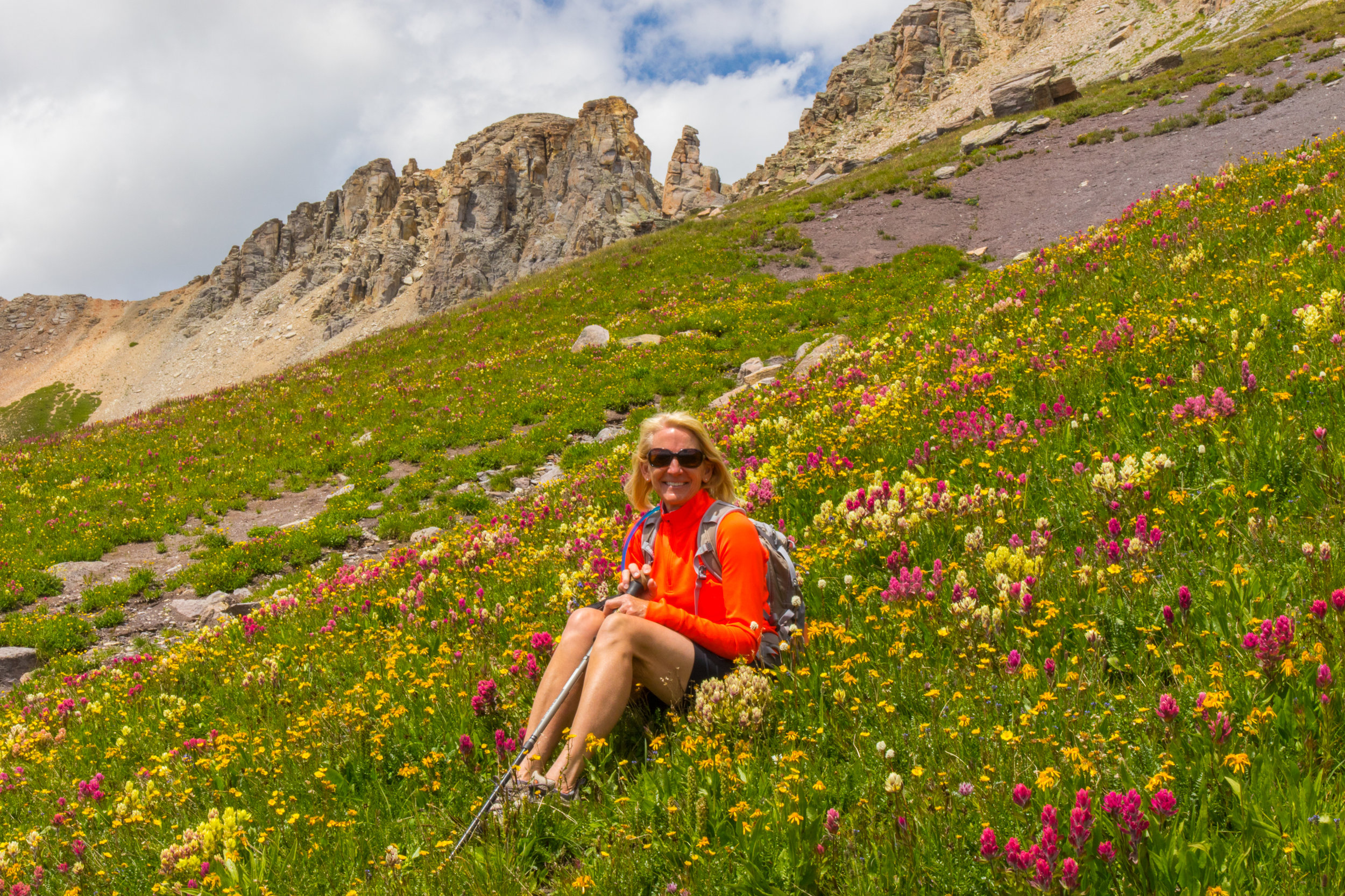 My favorite photo of Mary Peil in the Wildflowers