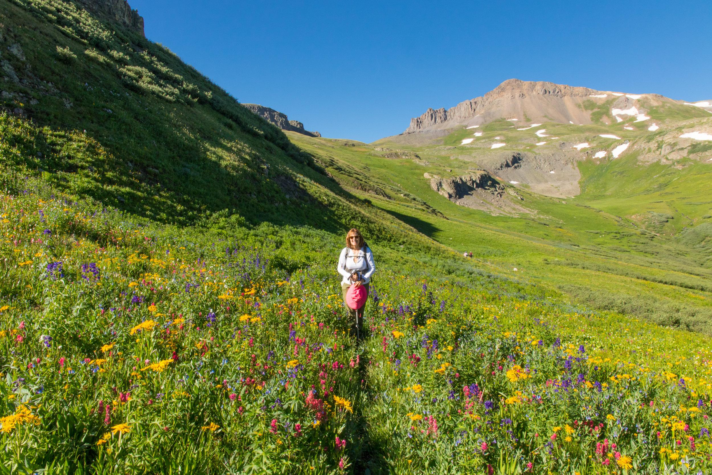 Gina on Maggie Gulch Trail