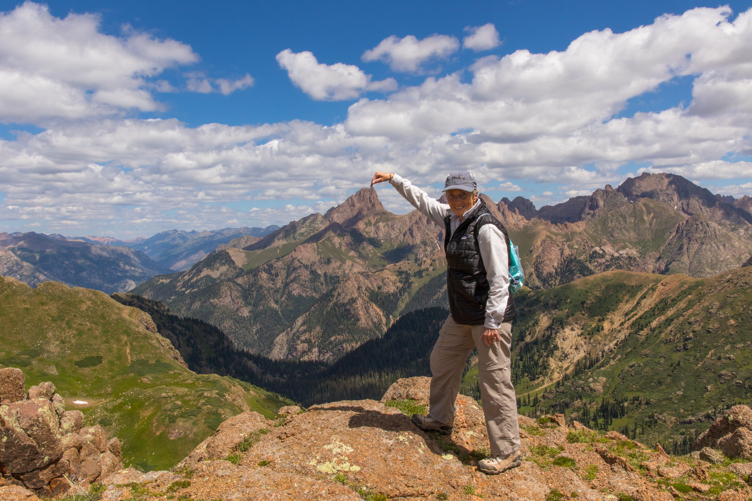Lillian Touches Pidgeon Peak