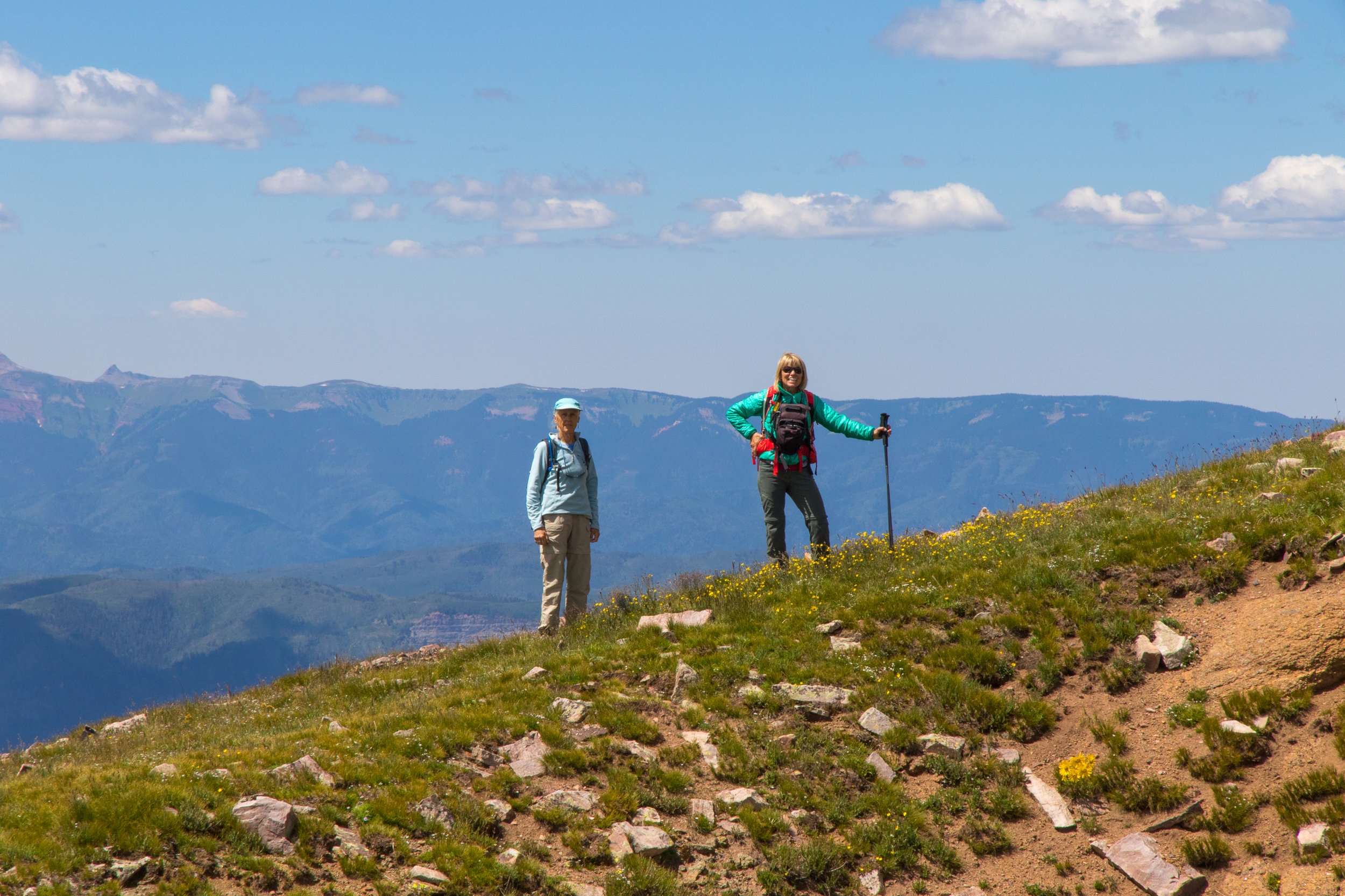 Toby and Mary Ann on the ridge