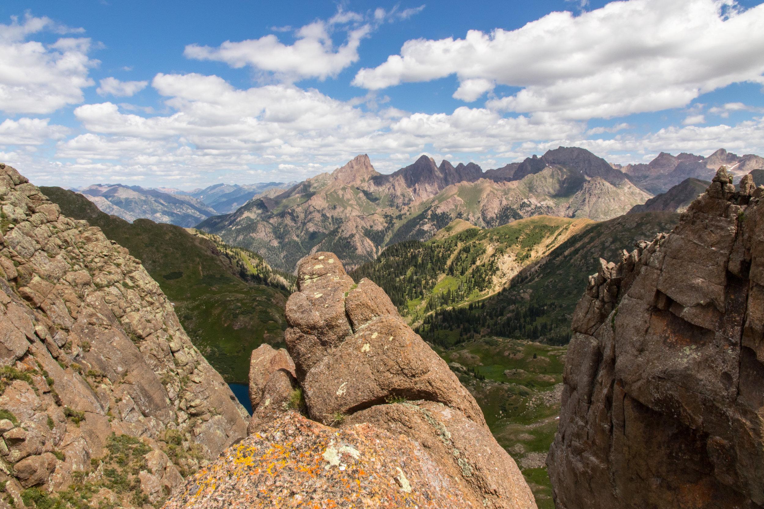 Narrow ridge overlook