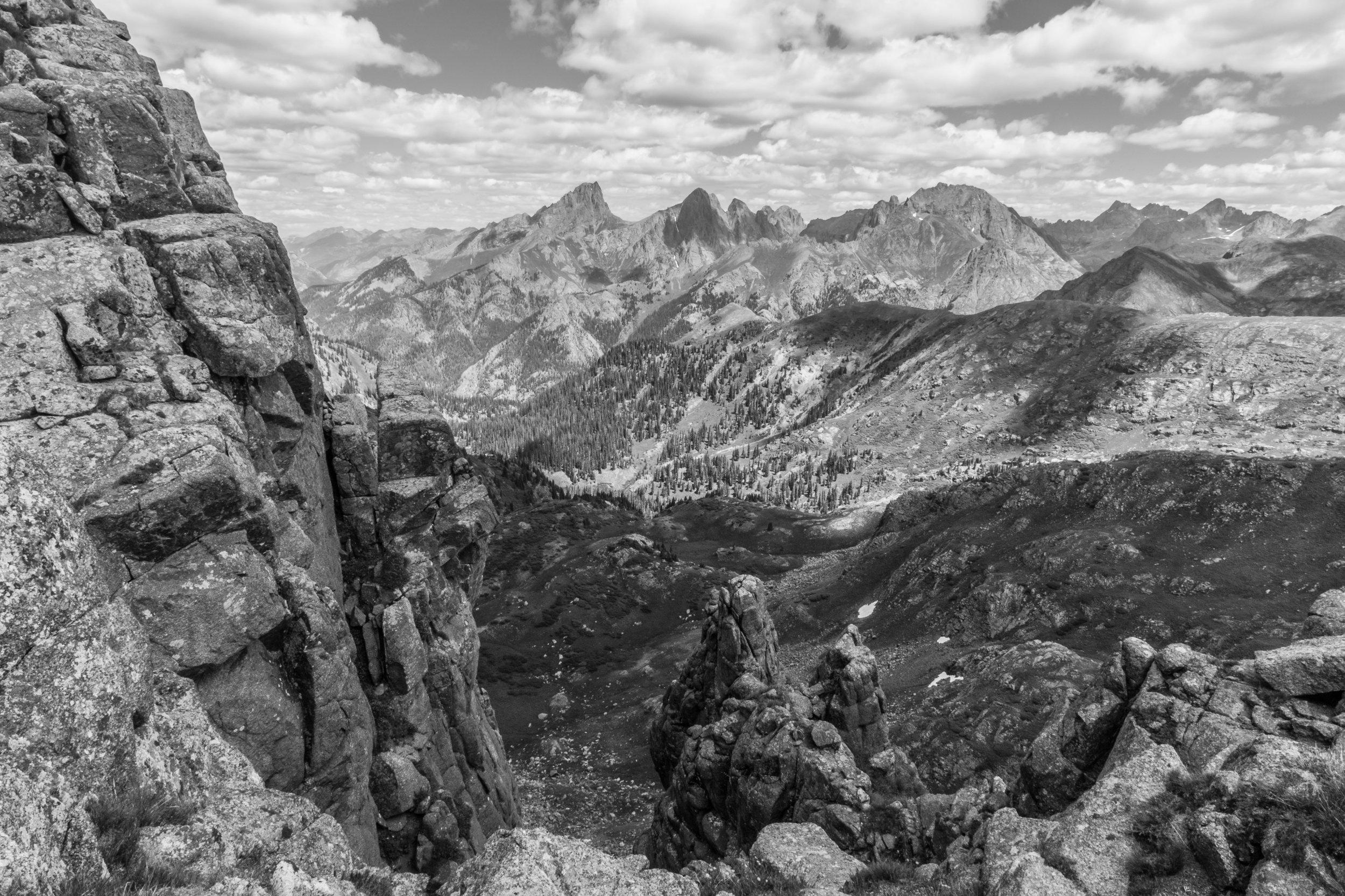 Pidgeon and Turret Peaks in Black & White