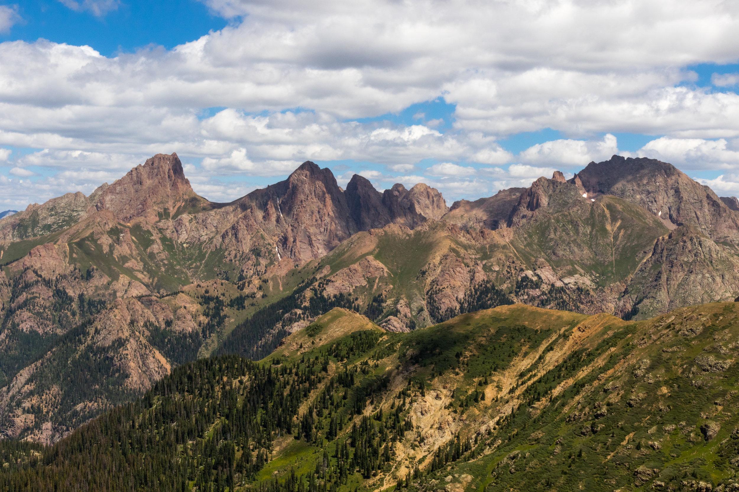 Pidgeon and Turret Peaks
