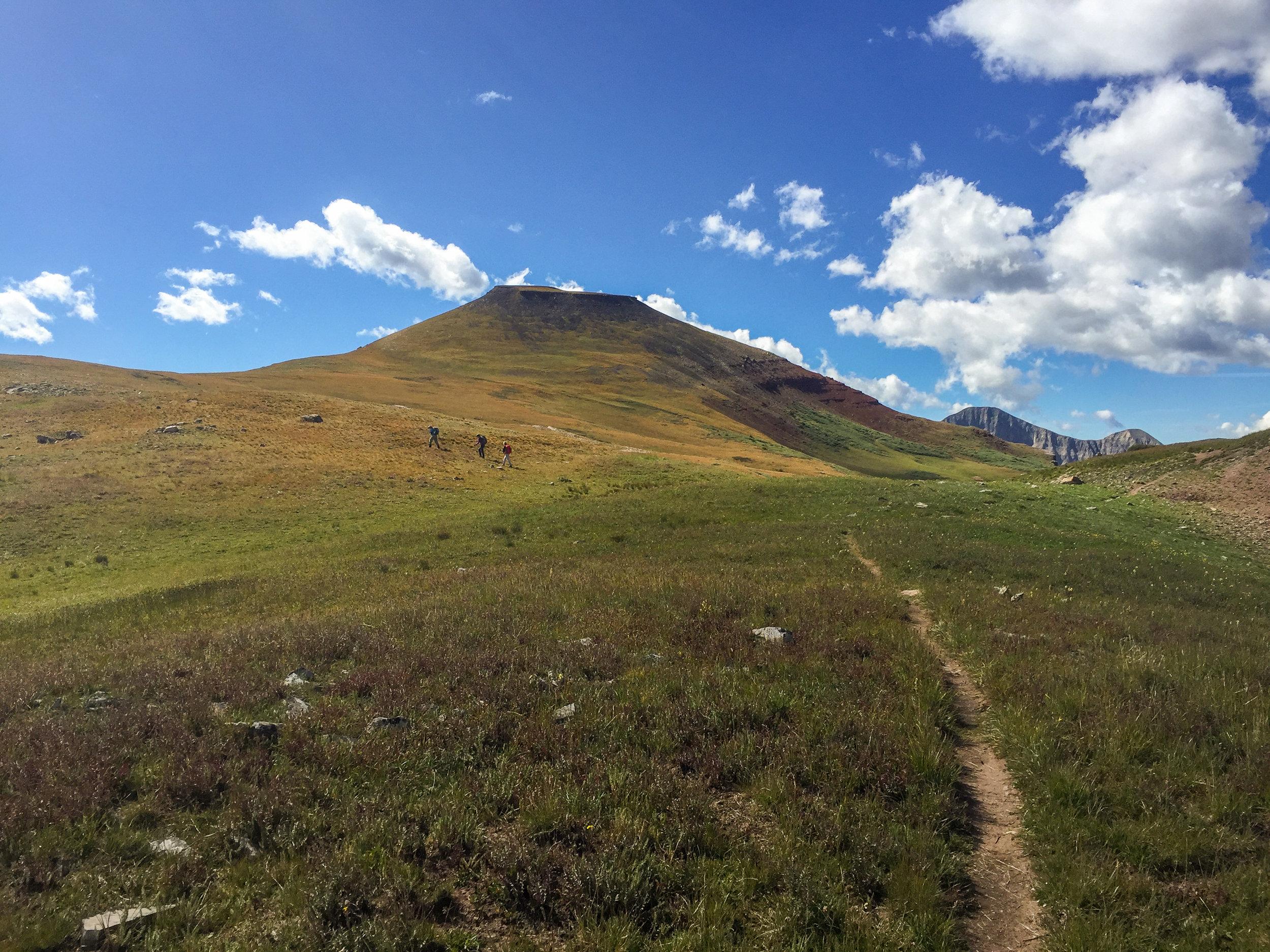 Trail toward Jura Knob