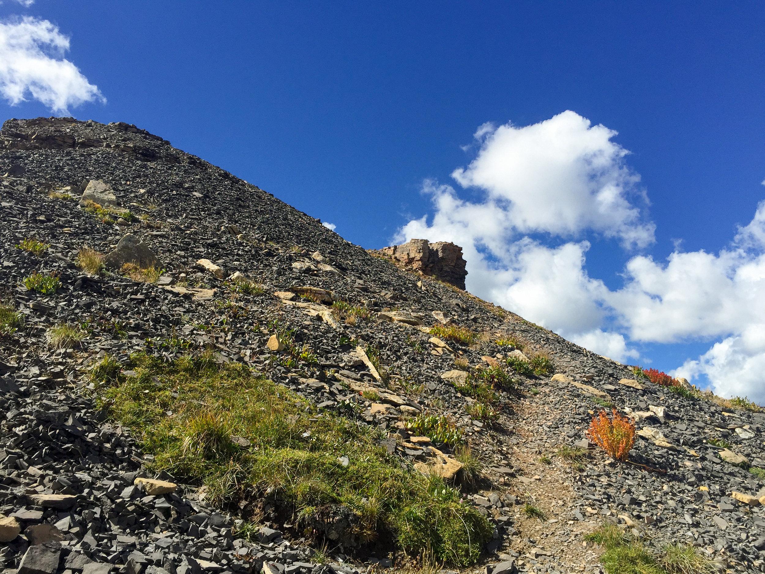 Route up Jura Knob