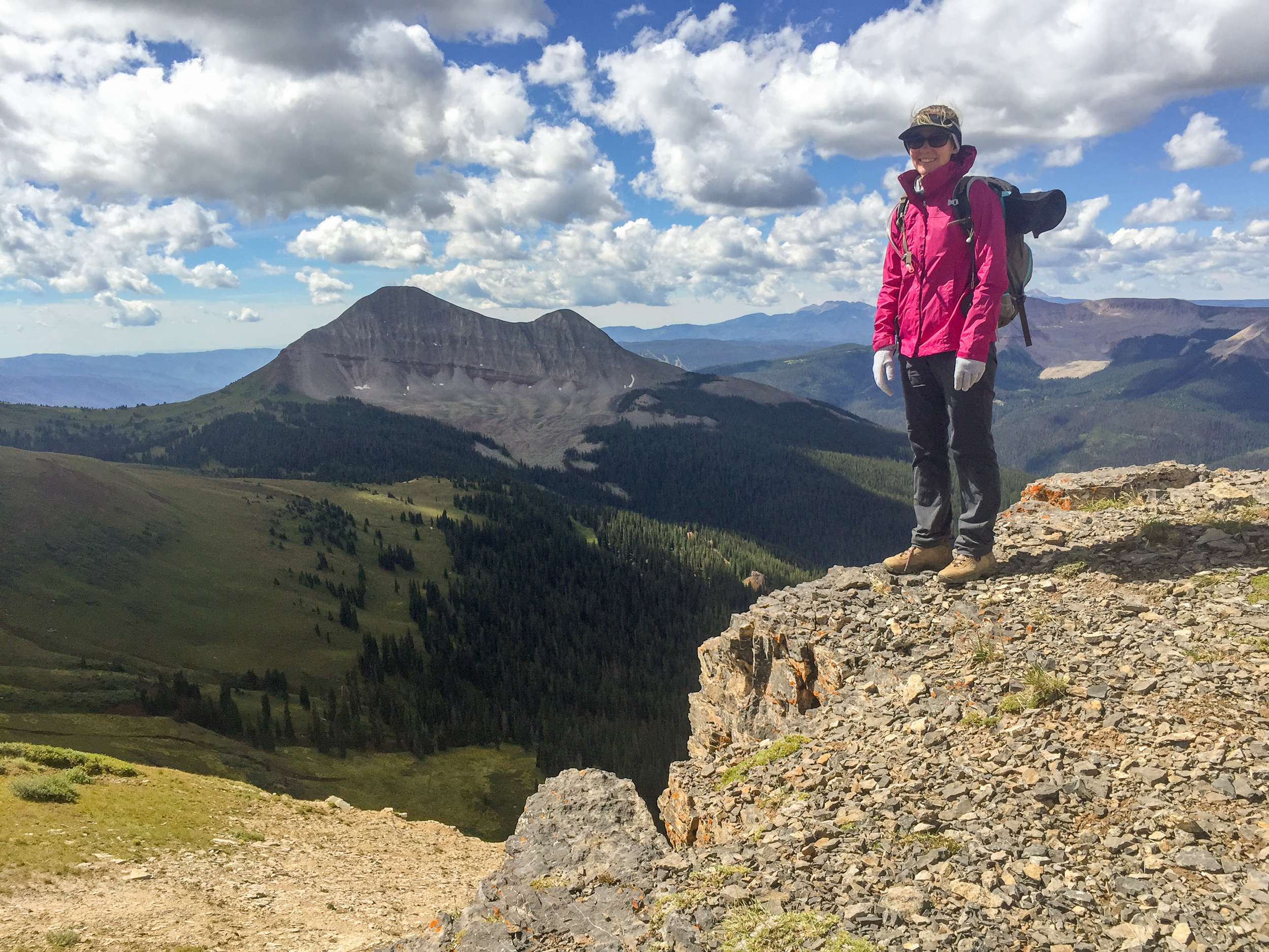 Jane Marie on Jura Knob with Engineer Mountain in the background