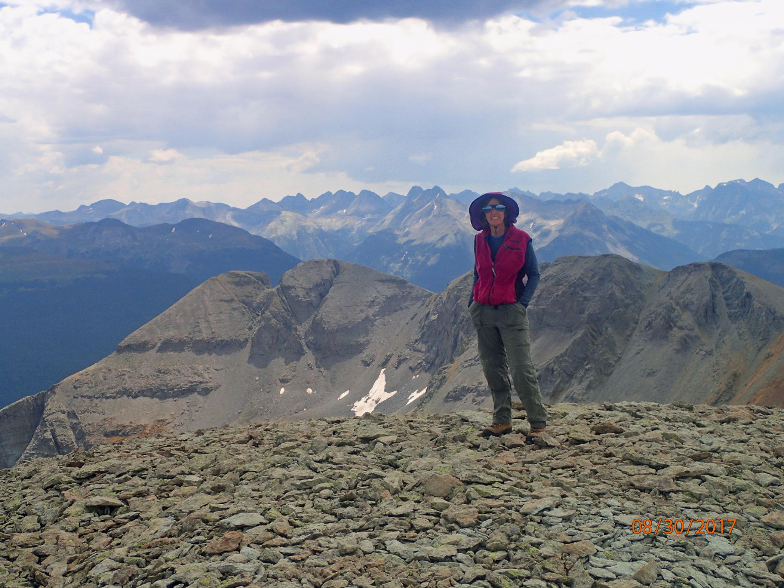 Me on top of Sultan Peak ©PennyJones