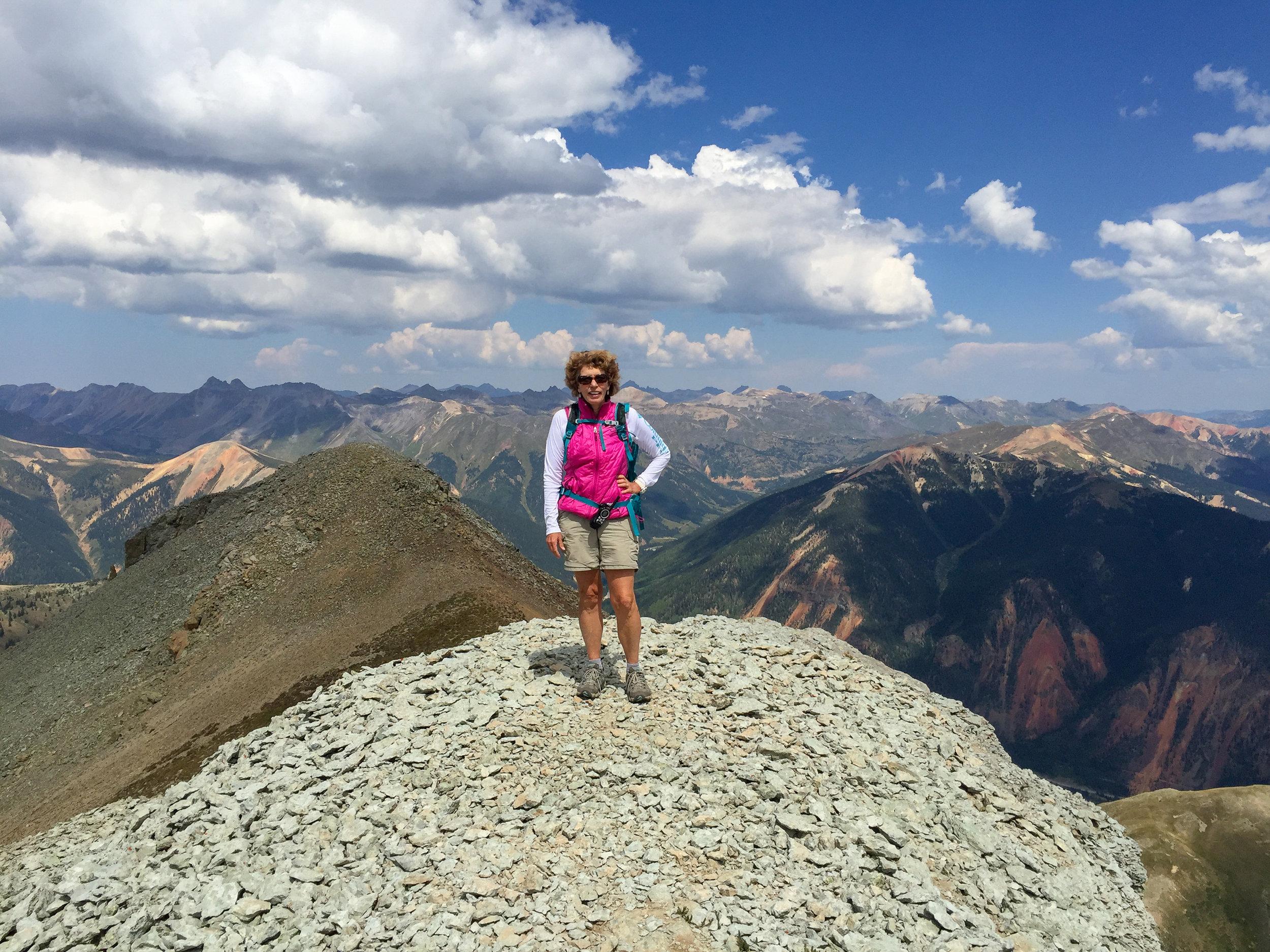 Candy on Sultan Peak summit
