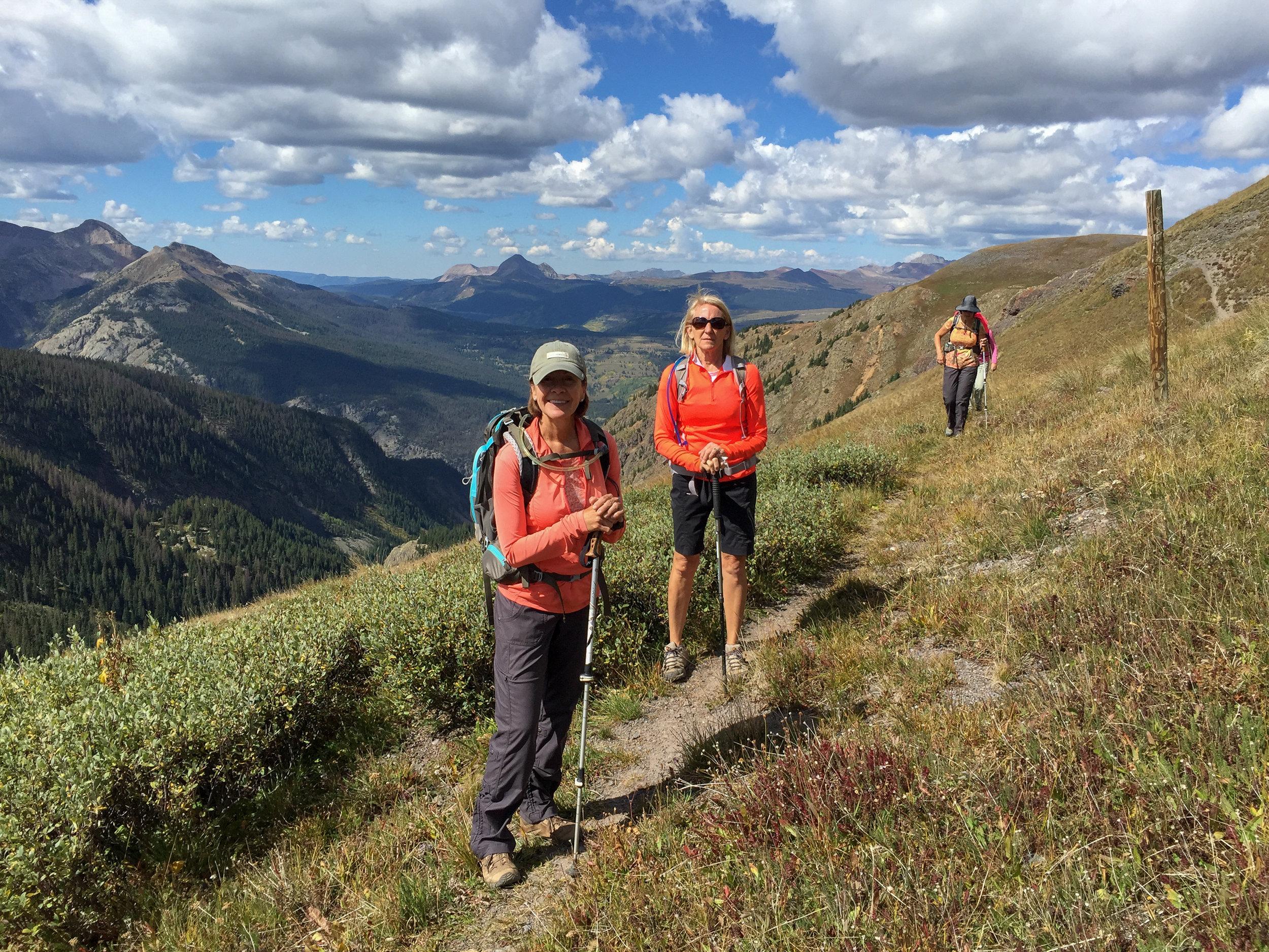 Angela, Mary & Gina on the trail