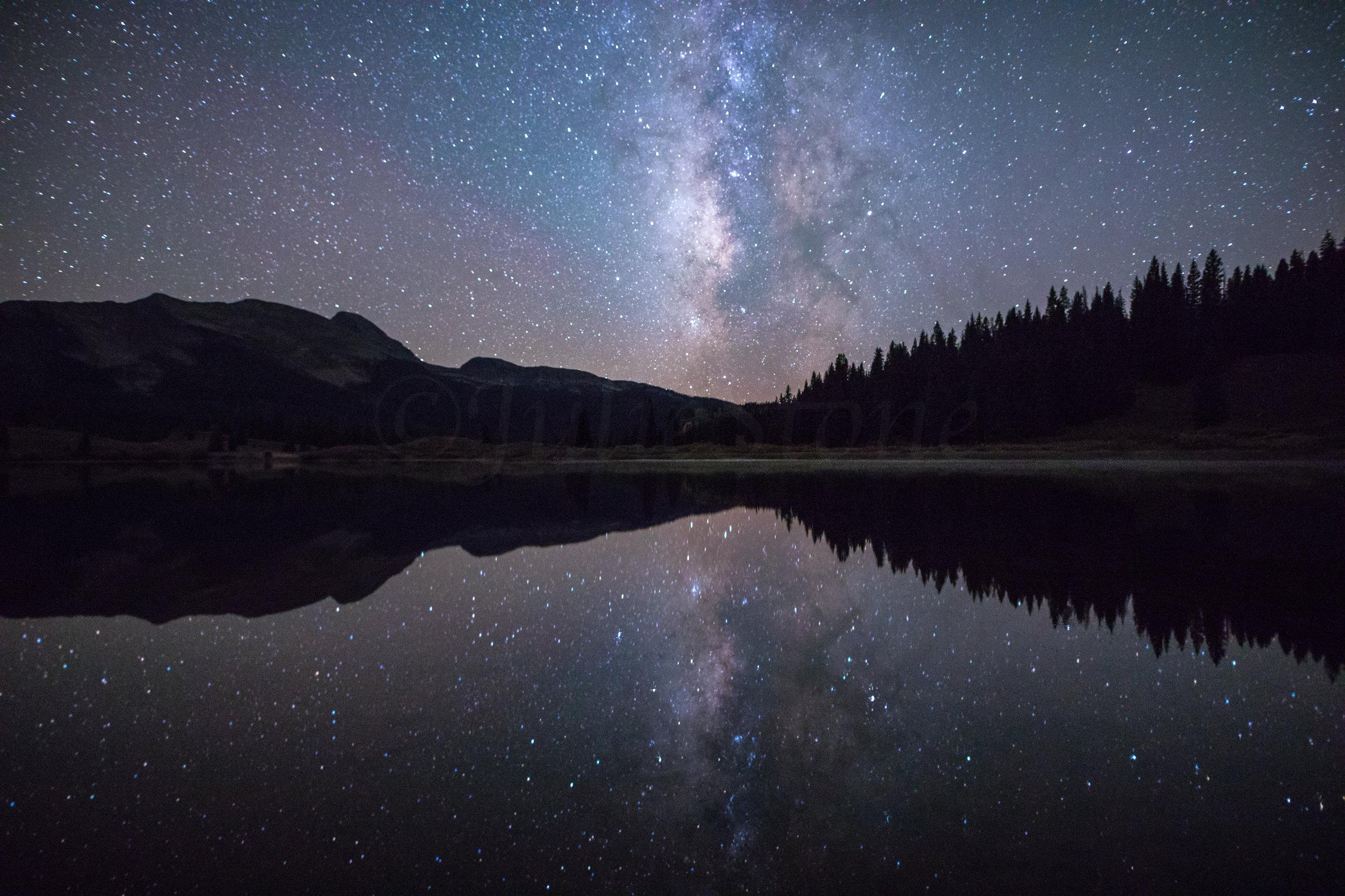 Milky Way over Molas Lake, Image # 0545