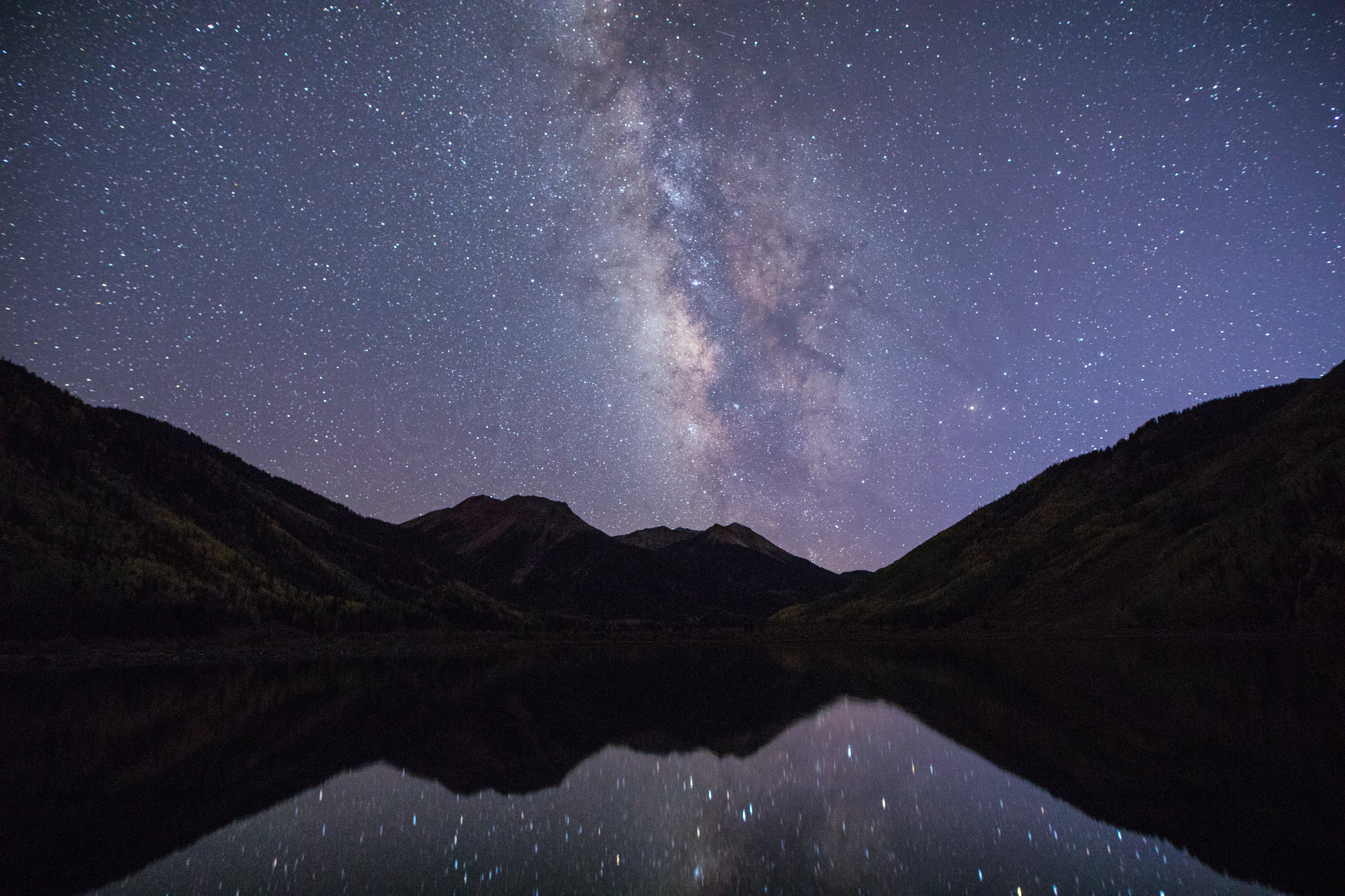 Milky Way Reflection over Red Mountain, Image # 1669
