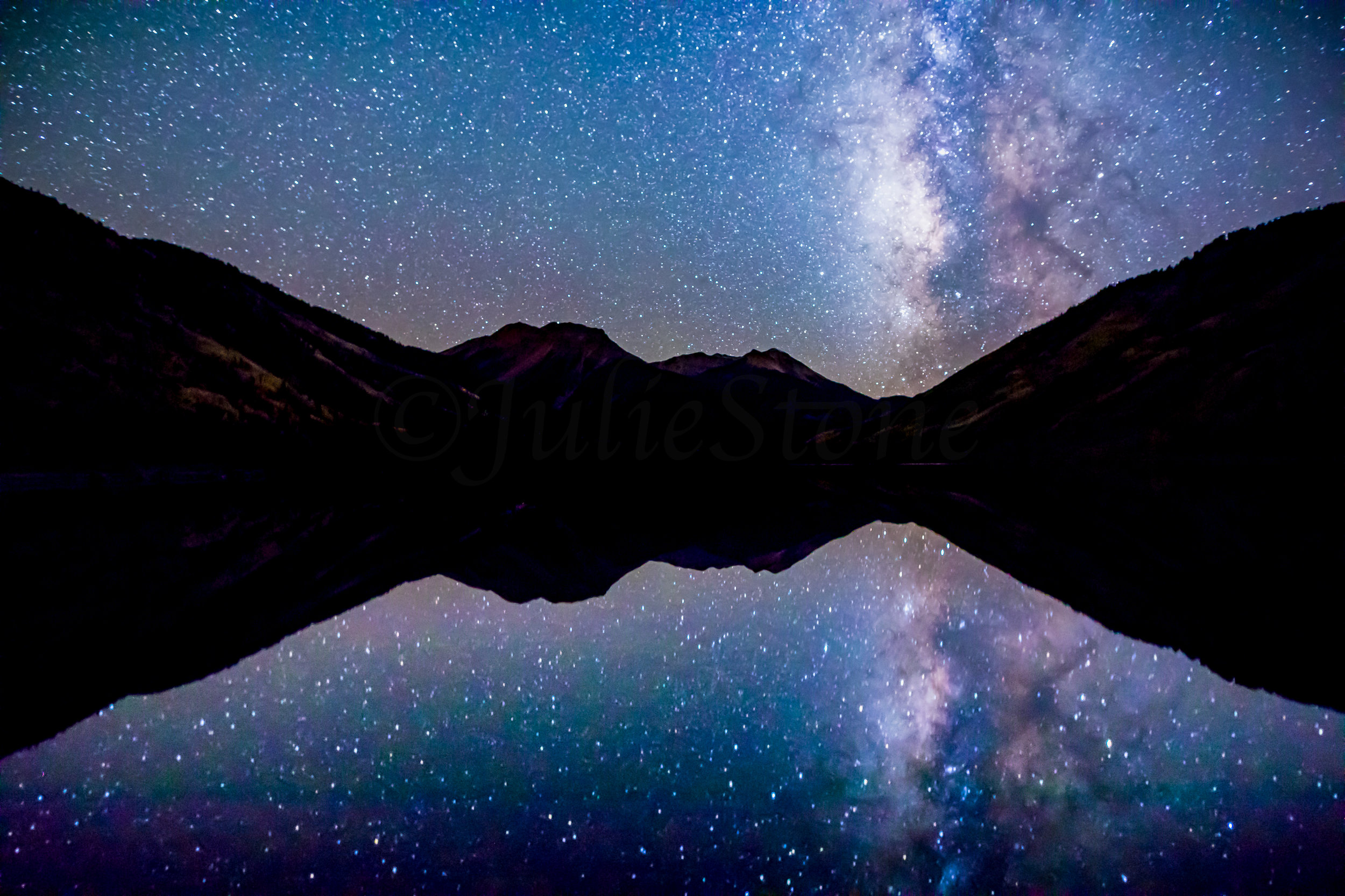 Milky Way Reflection over Red Mountain, Image # 1746