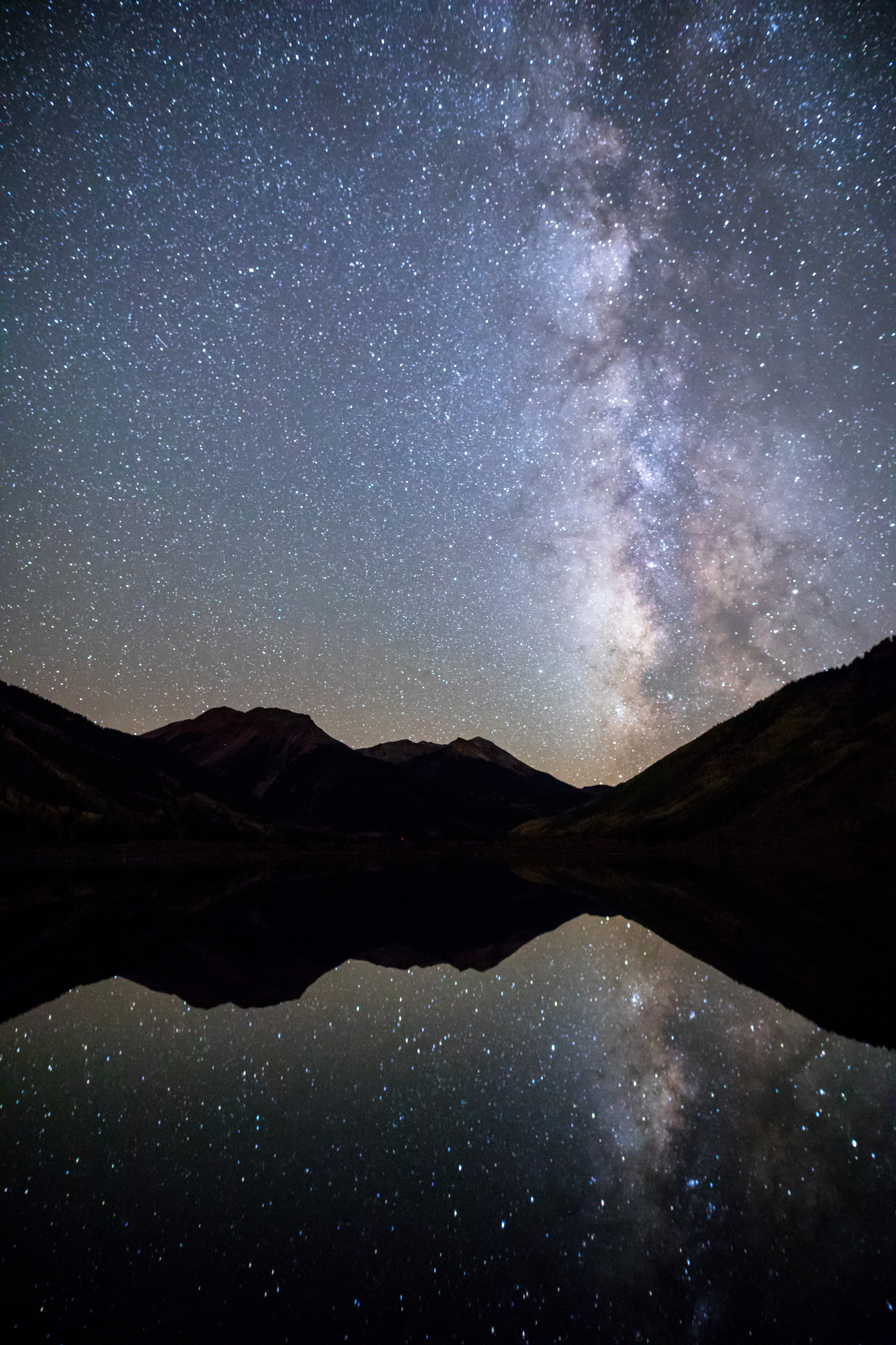 Milky Way Reflection over Red Mountain, Image # 1756
