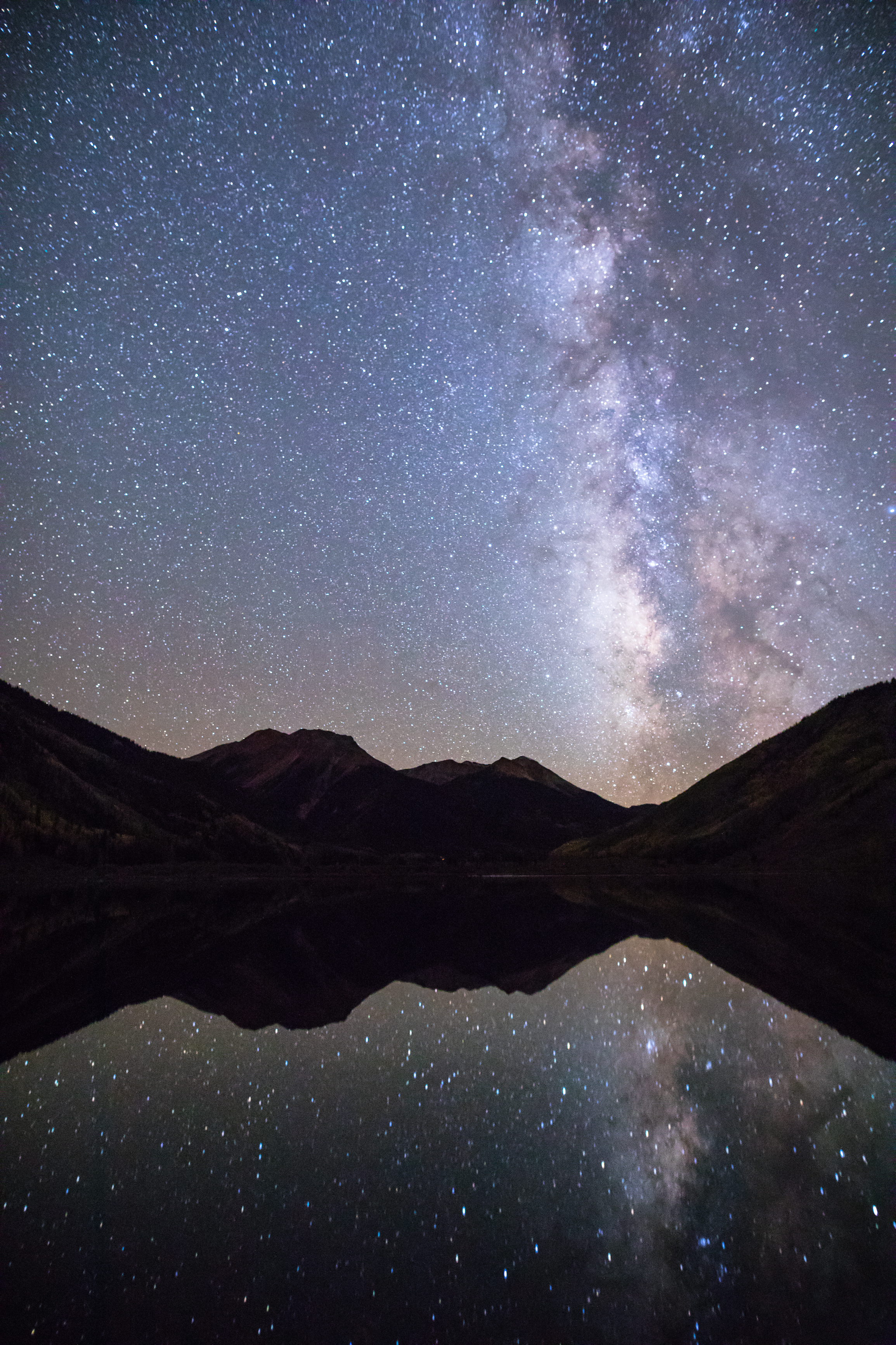 Milky Way Reflection over Red Mountain, Image # 1736