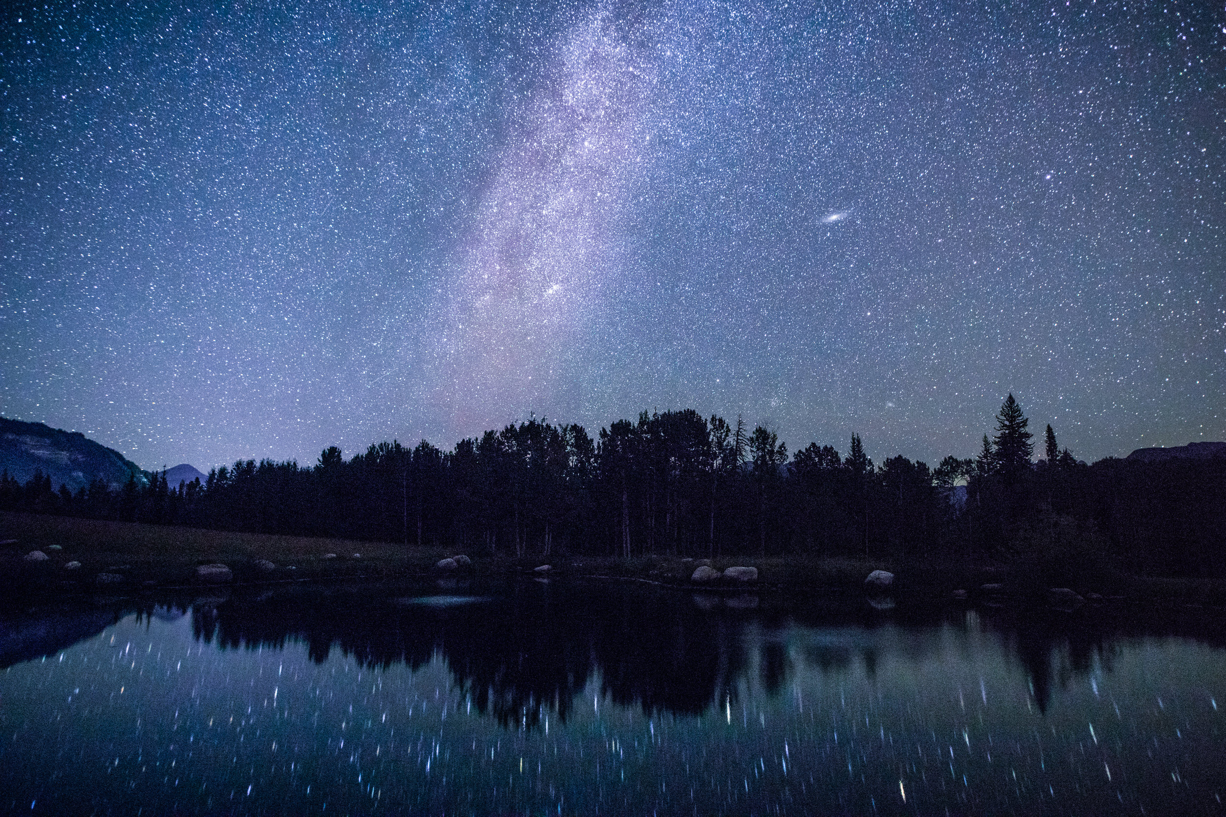 Milky Way Reflection in Pond, Image # 7413