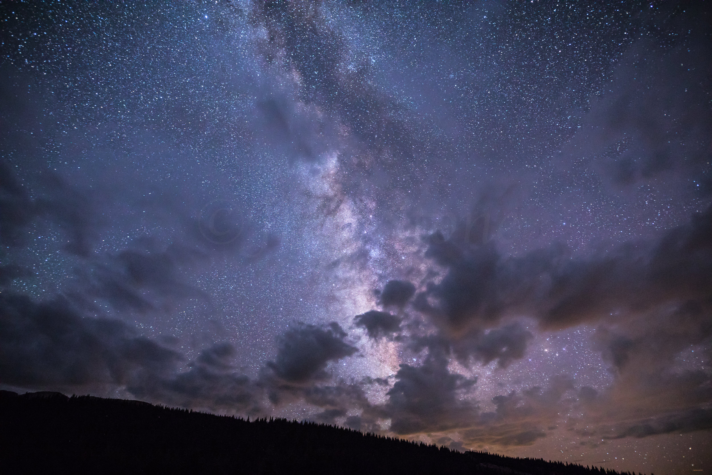 Beautiful Night Sky with Milk Way and Clouds, Image # 7507