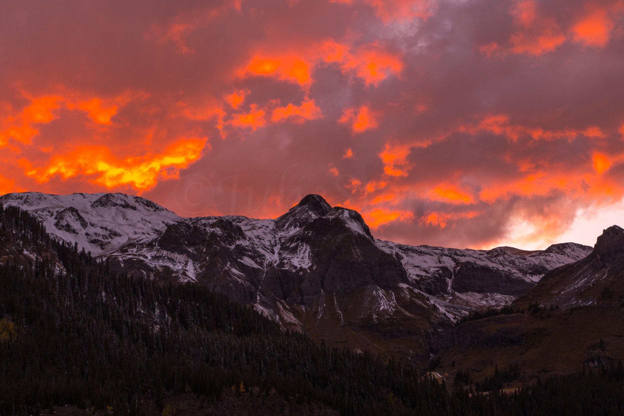 Red Mountain Sunset, Image # 5383