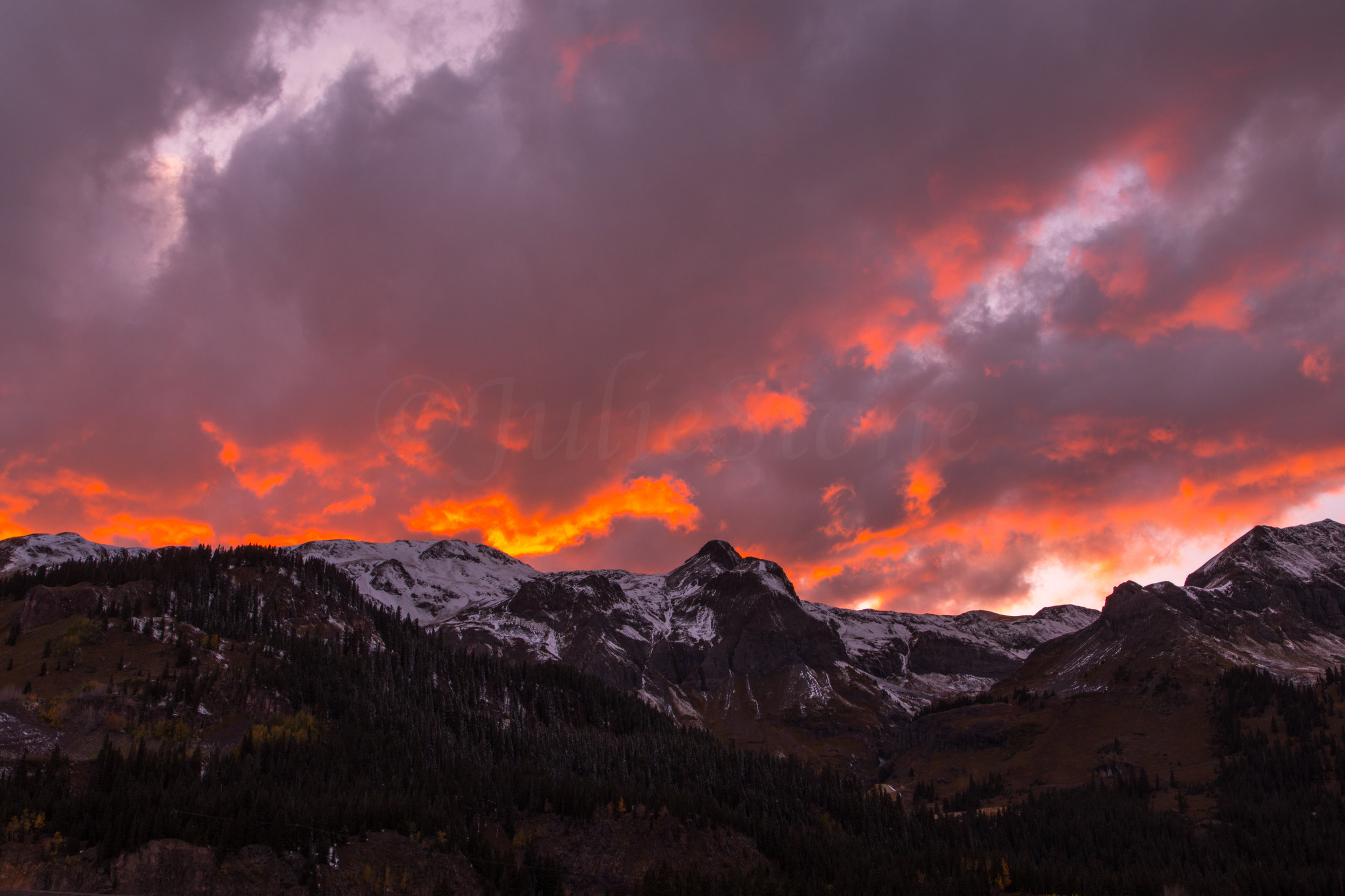 Red Mountain Sunset, Image # 5389