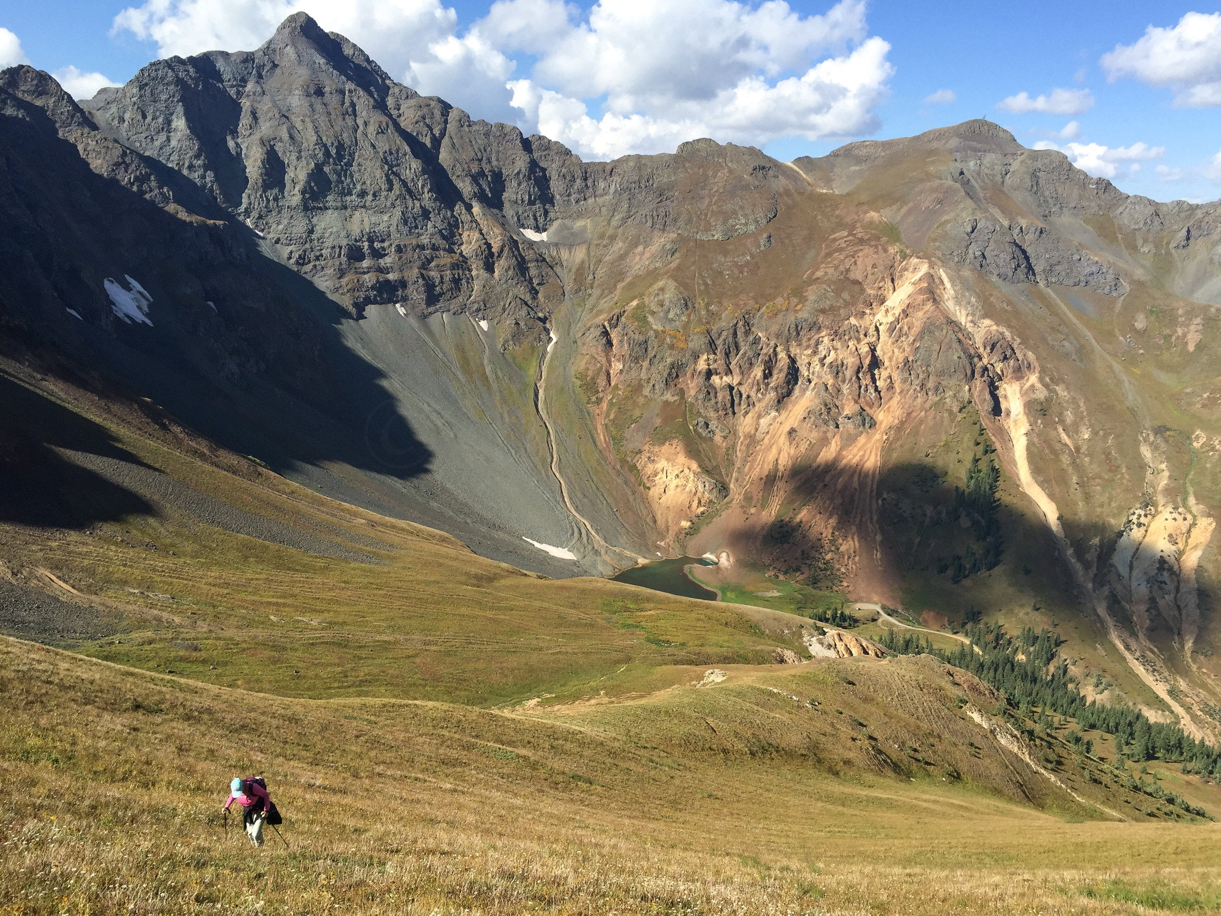 Lisa hiking up from Velocity Lake,mage # 2913