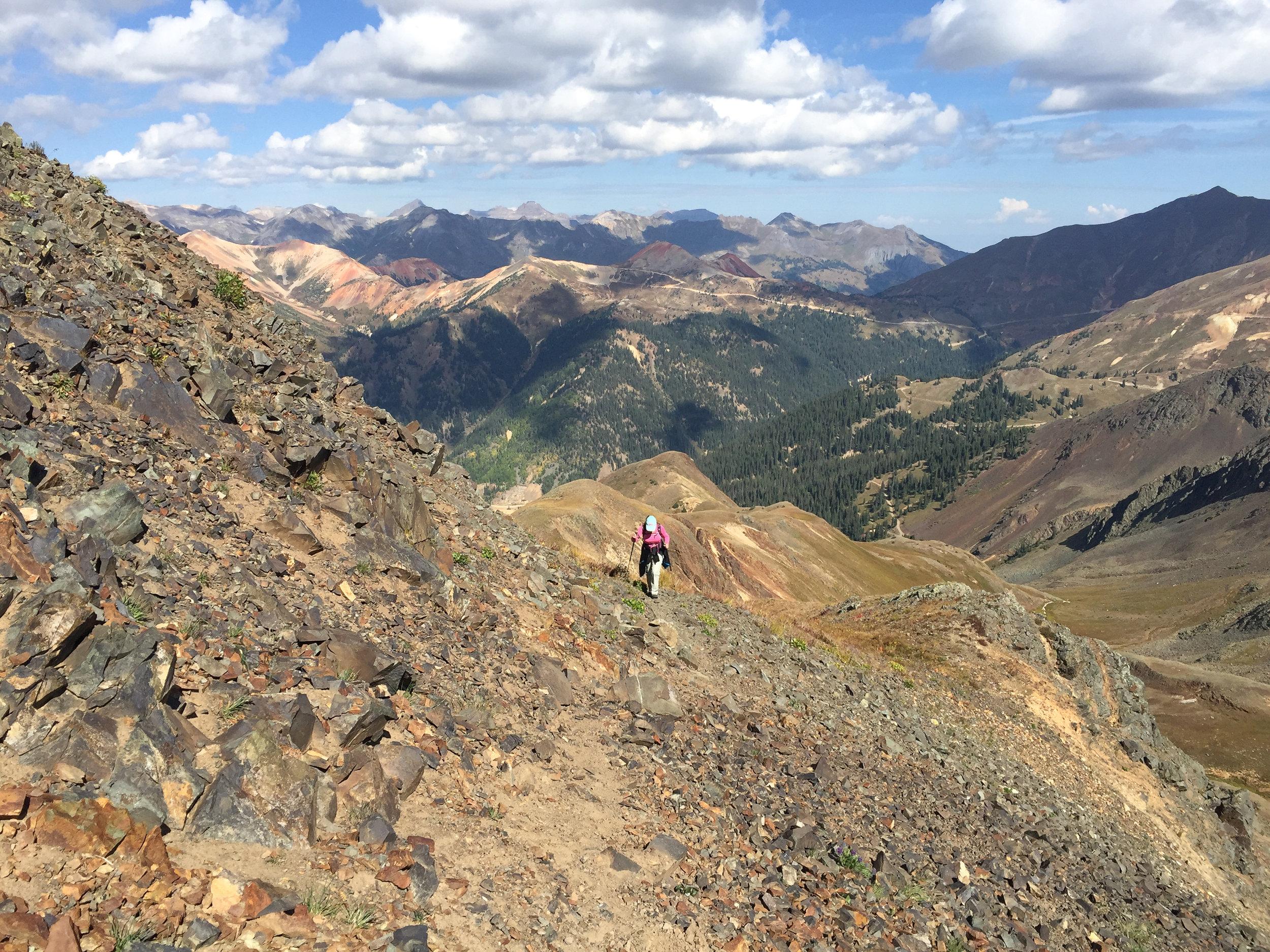 Lisa hiking on the ridge, Image # 2922