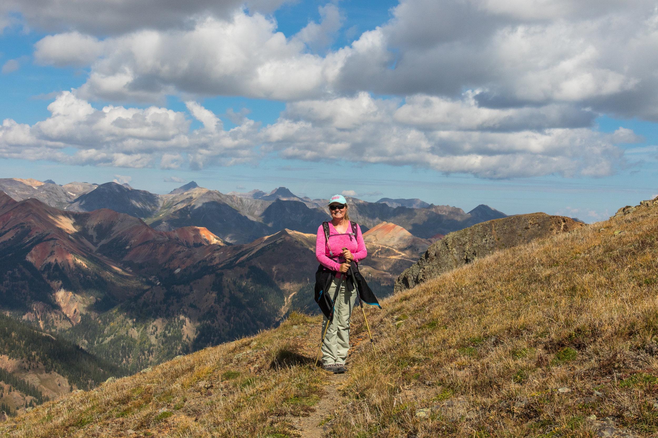 Lisa Vajda on the trail, Image # 7550