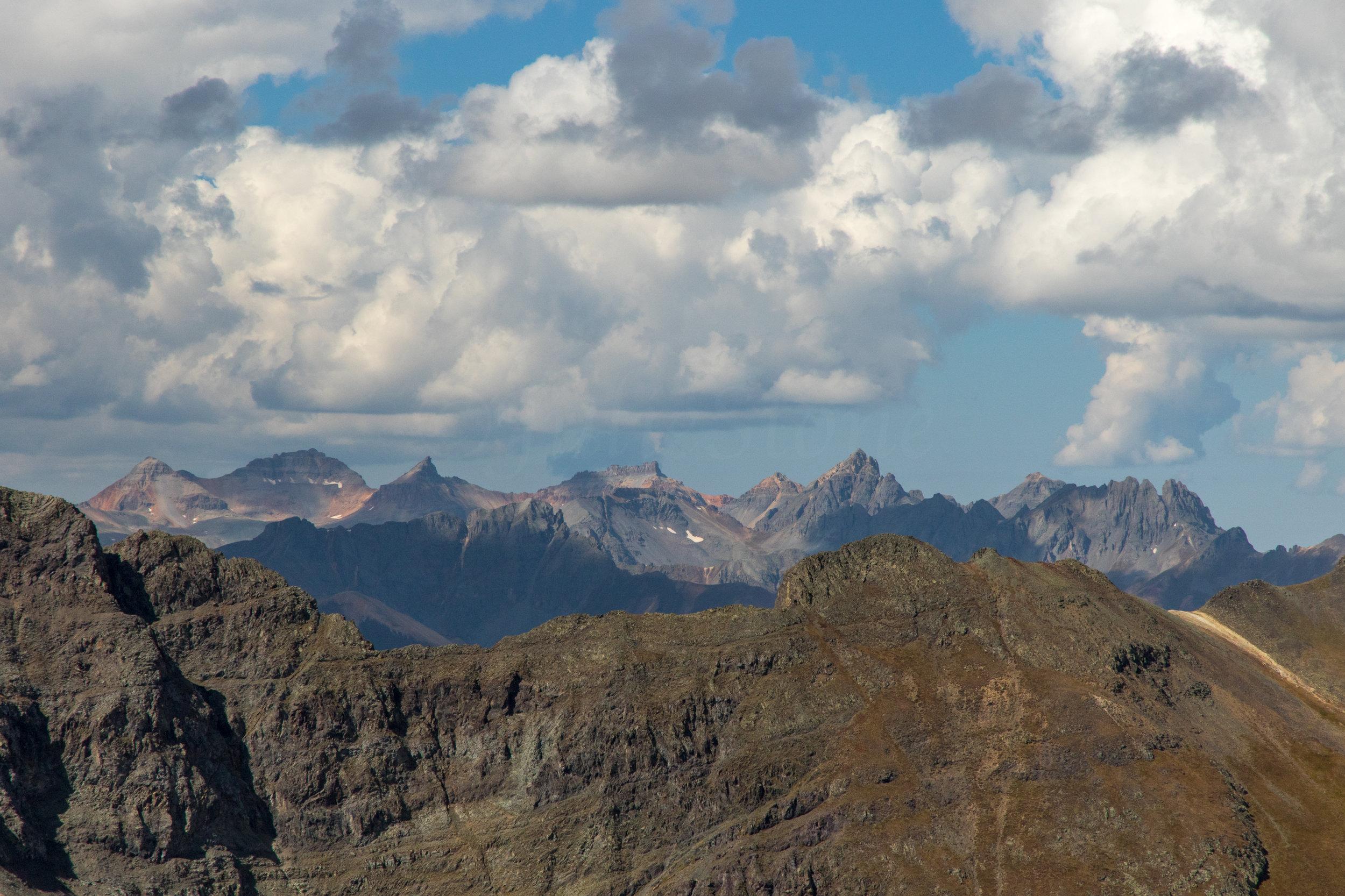San Juan Mountain Range from trail, Image # 7556