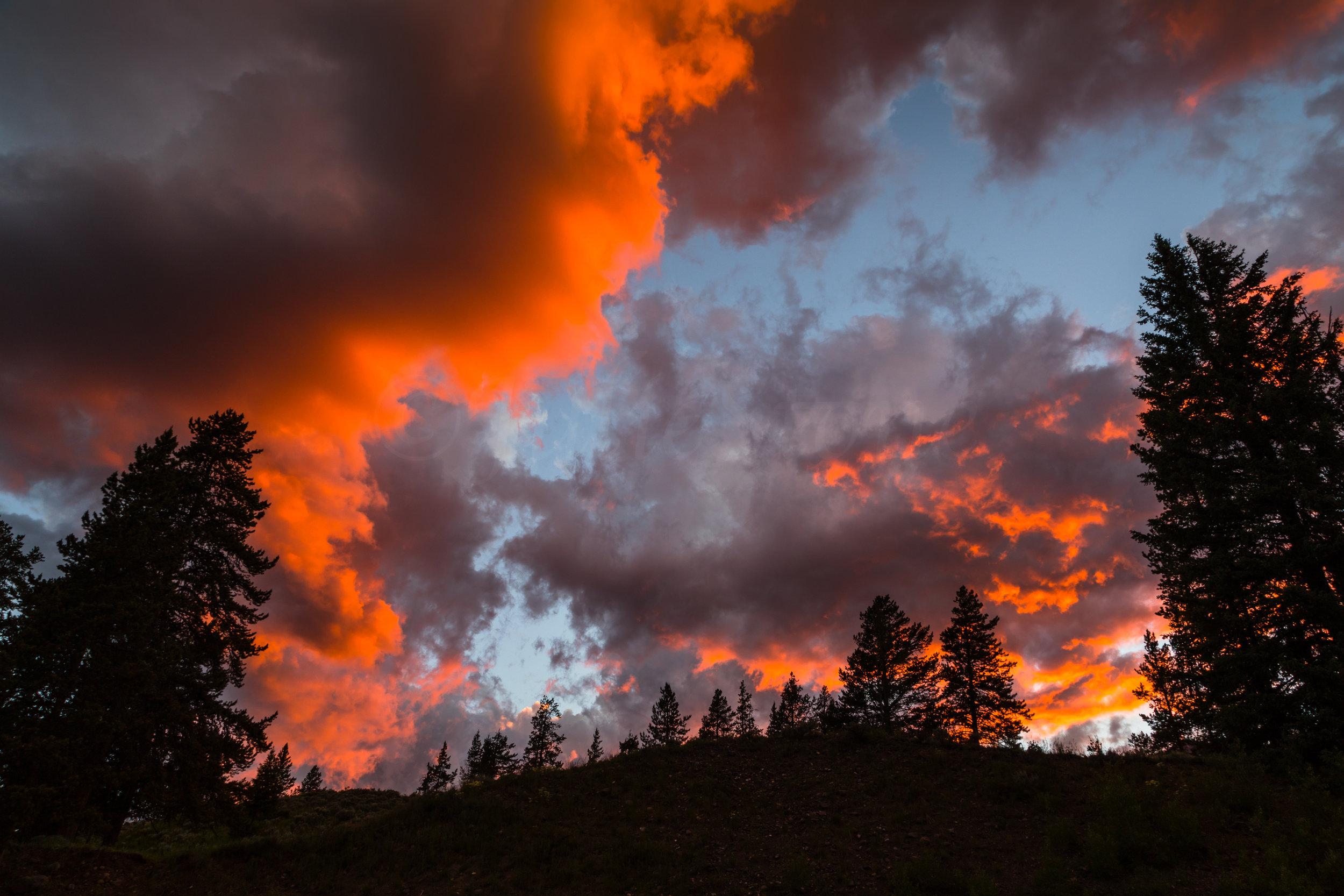 Lamar Valley Sunset, Yellowstone National Park, Image # 6083