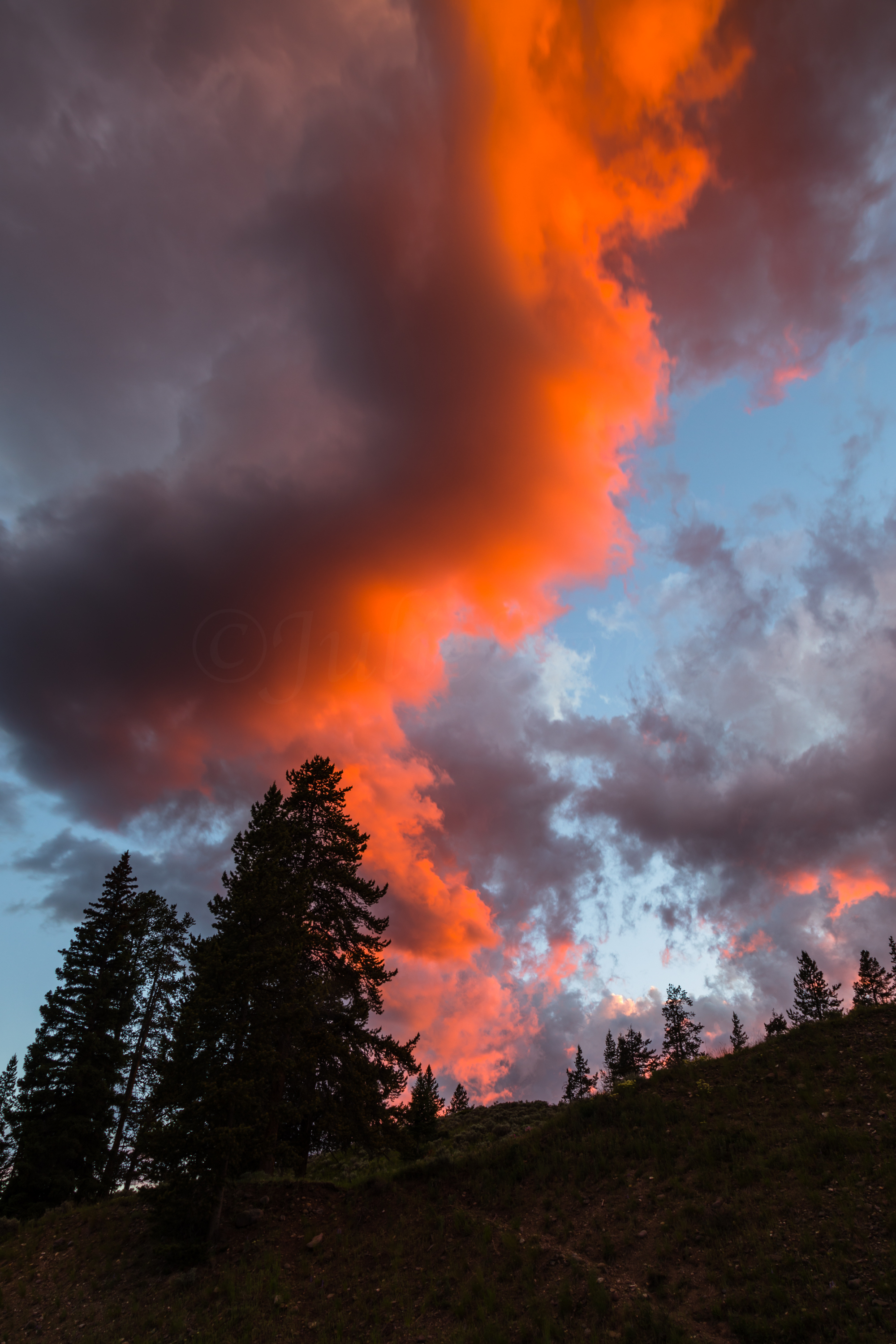 Lamar Valley Sunset, Yellowstone National Park, Image # 6087