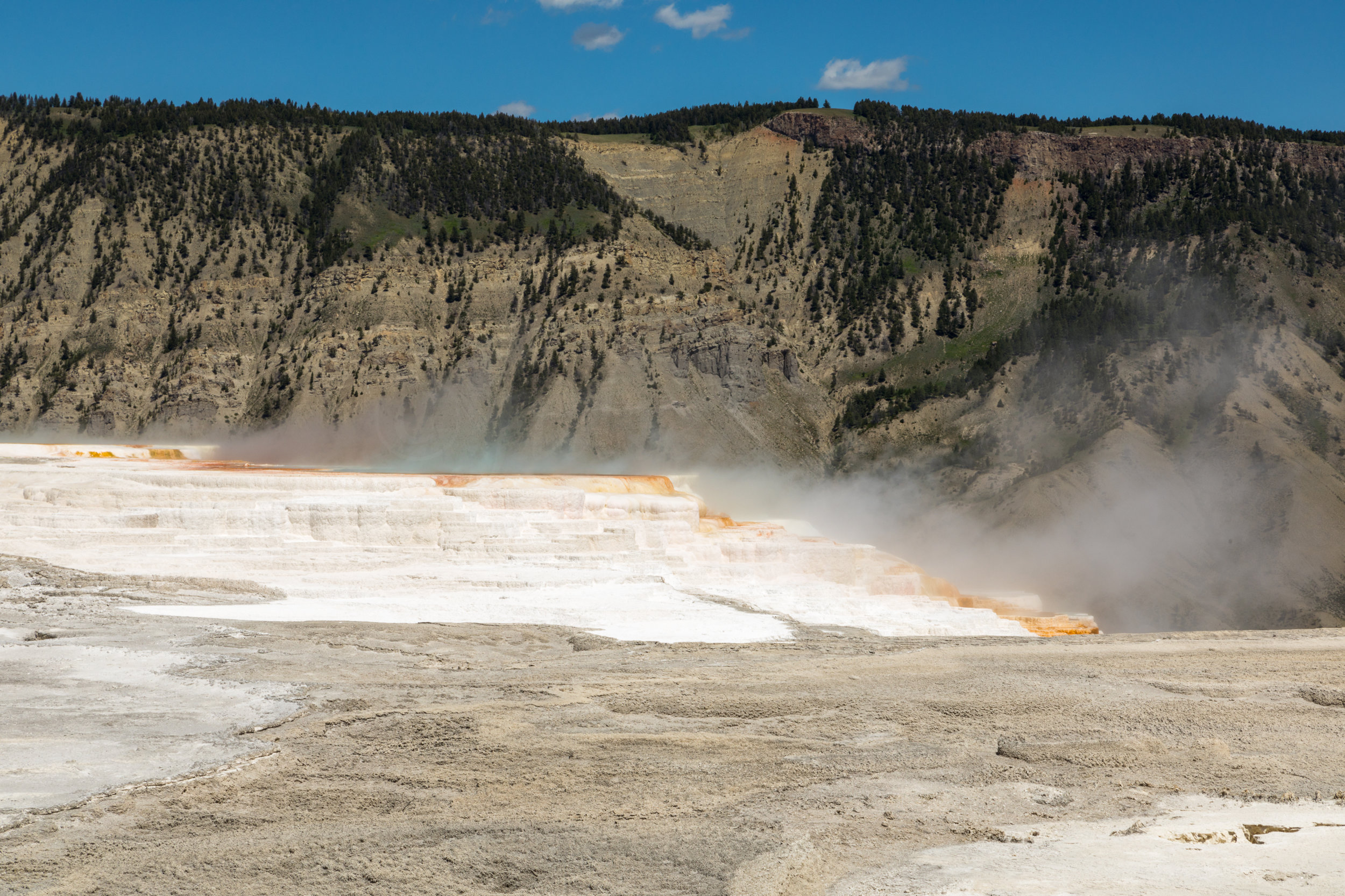 Mammoth Hot Springs, Yellowstone National Park, Image # 7394