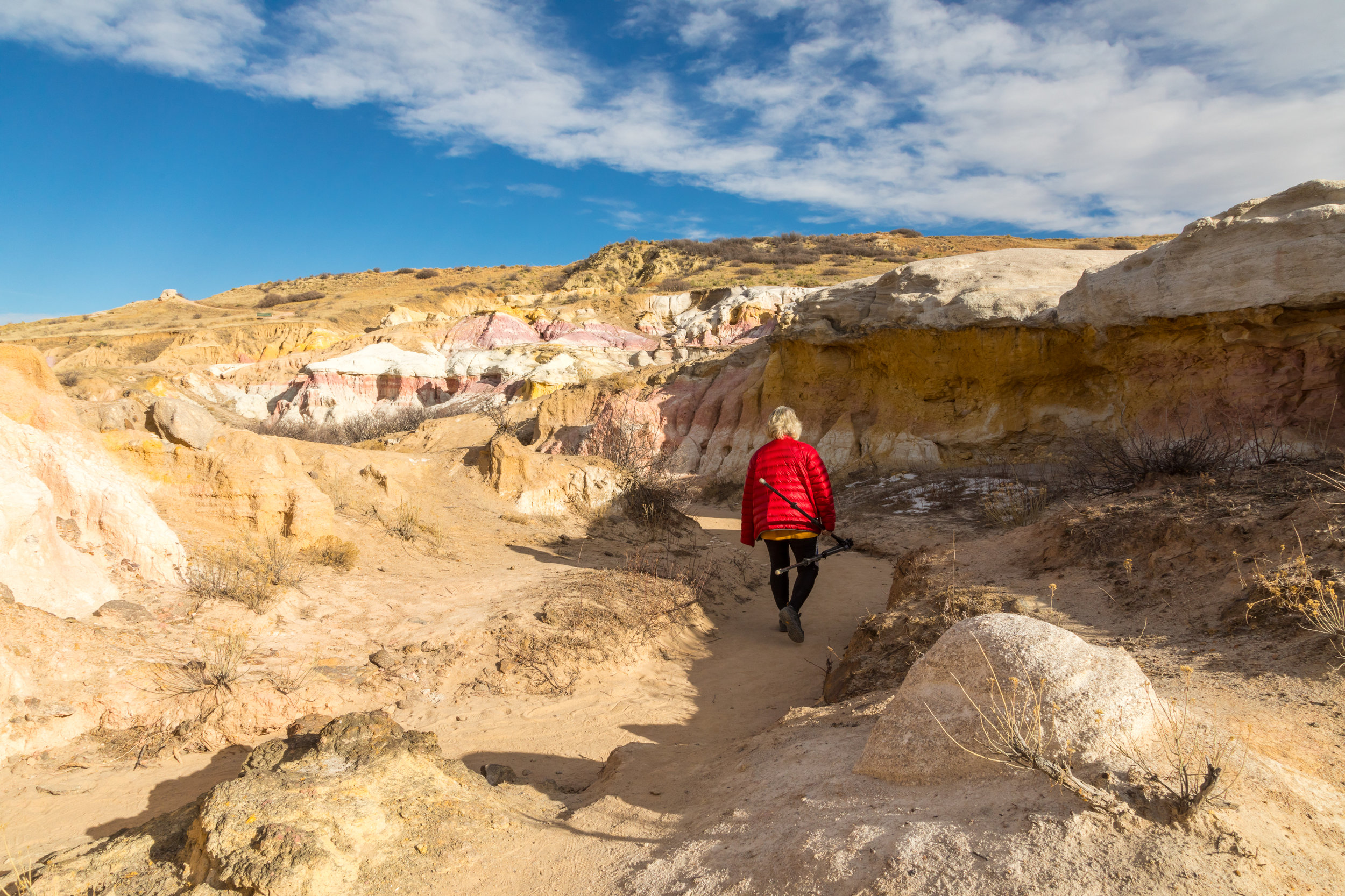 Zarita on trail at Calhan Paint Mines, Image # JRS0155