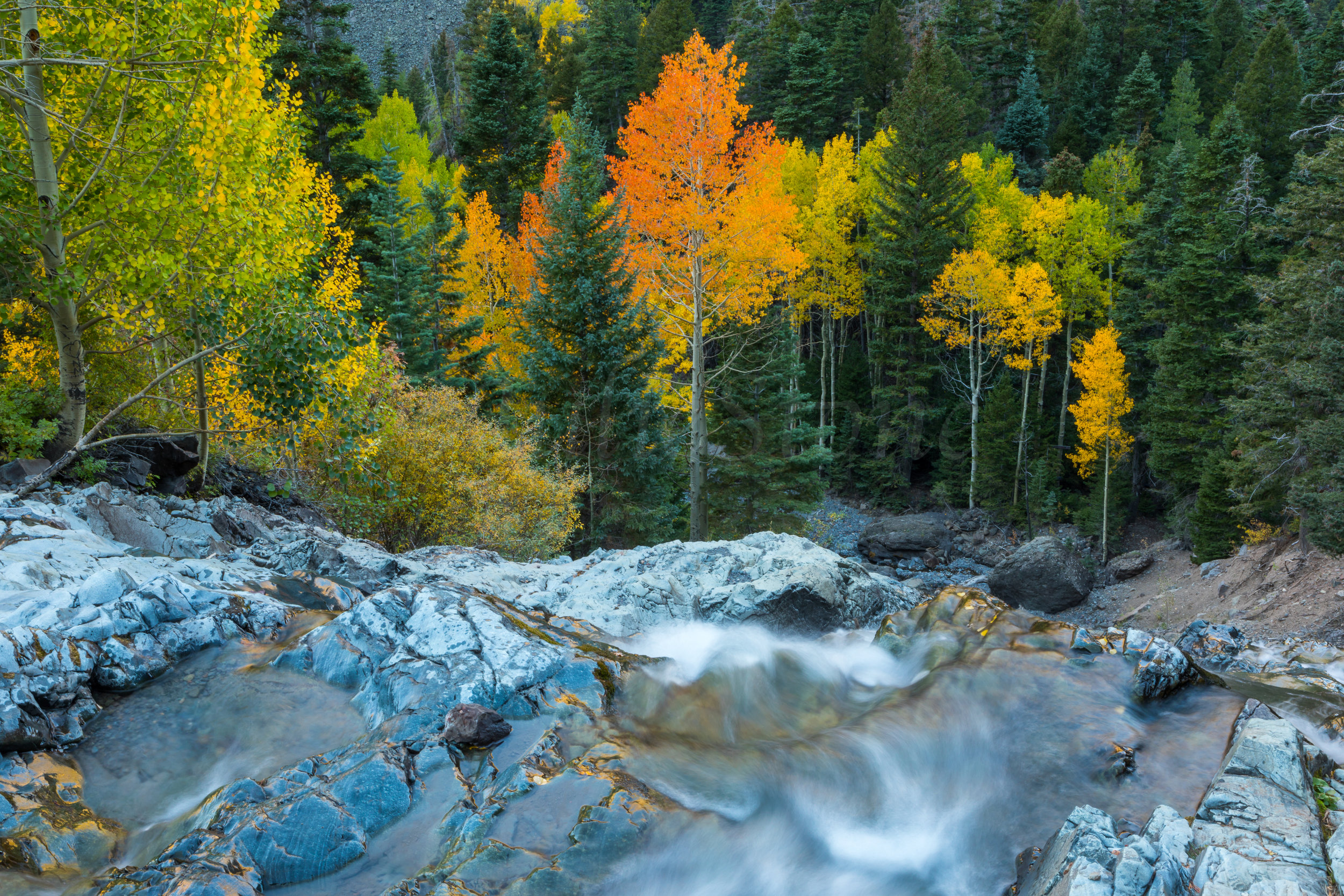 Ouray Waterfall, Image # 9155