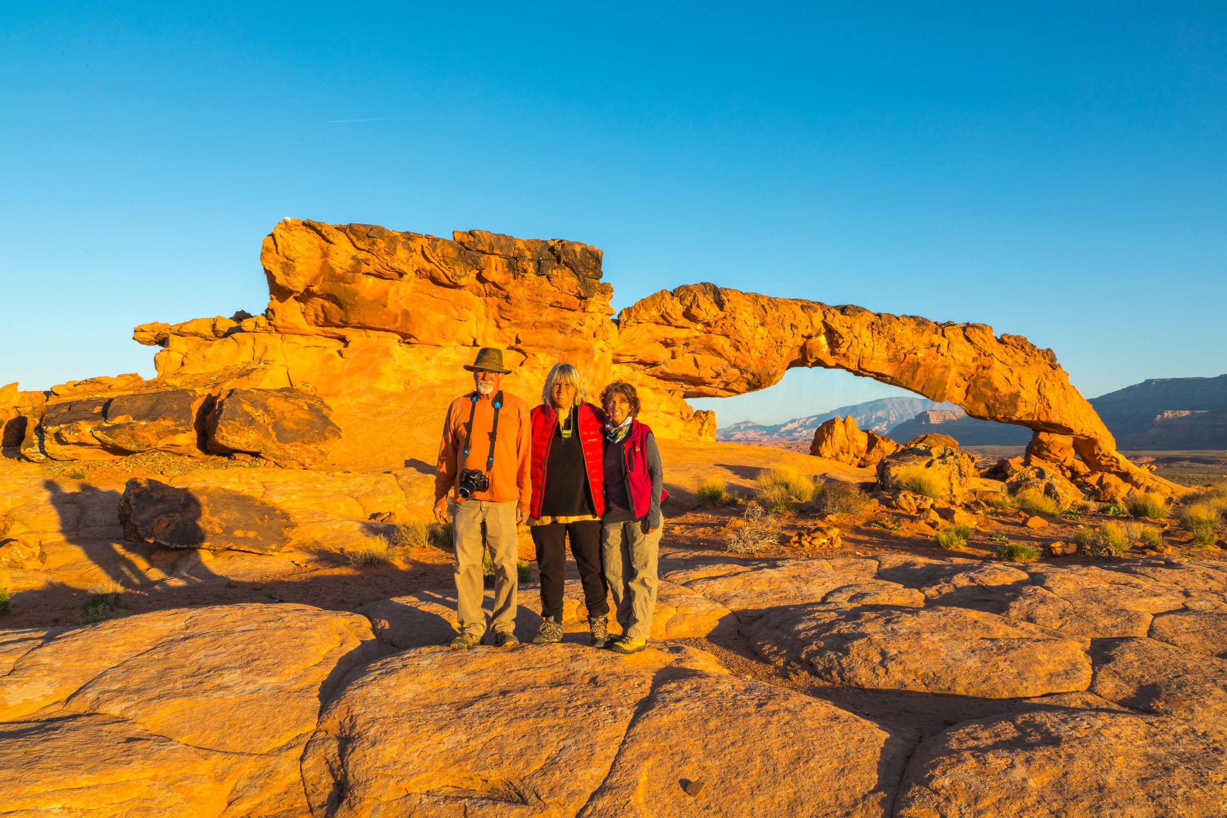 Sunset Arch, (Dave, Zarita & Julie) Image # 3051