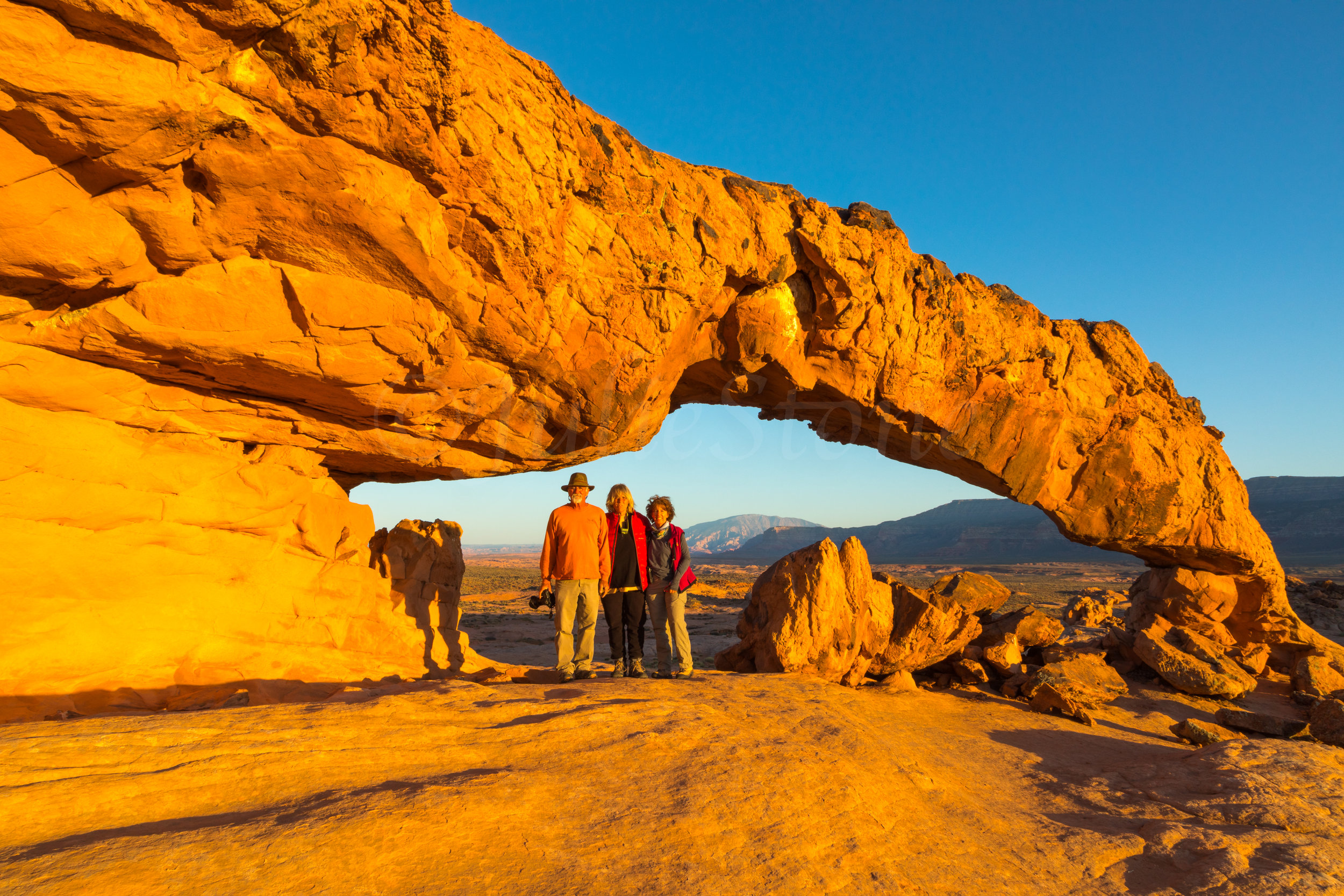 Sunset Arch, (Dave, Zarita & Julie) Image # 3069