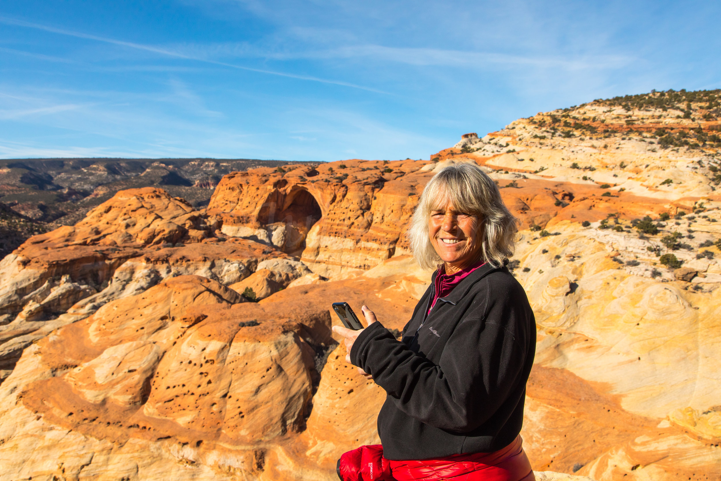 Capitol Reef National Park, Zarita at Cassidy Arch, Image # 0694