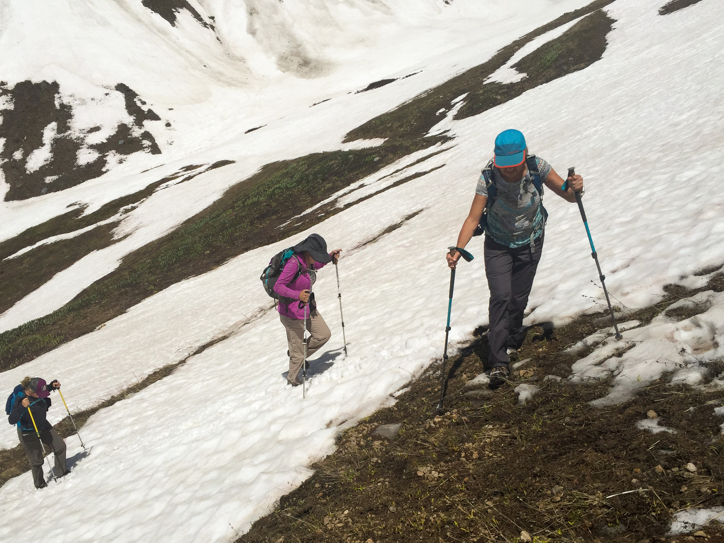 Team Everest makes its final push to the lunch spot.