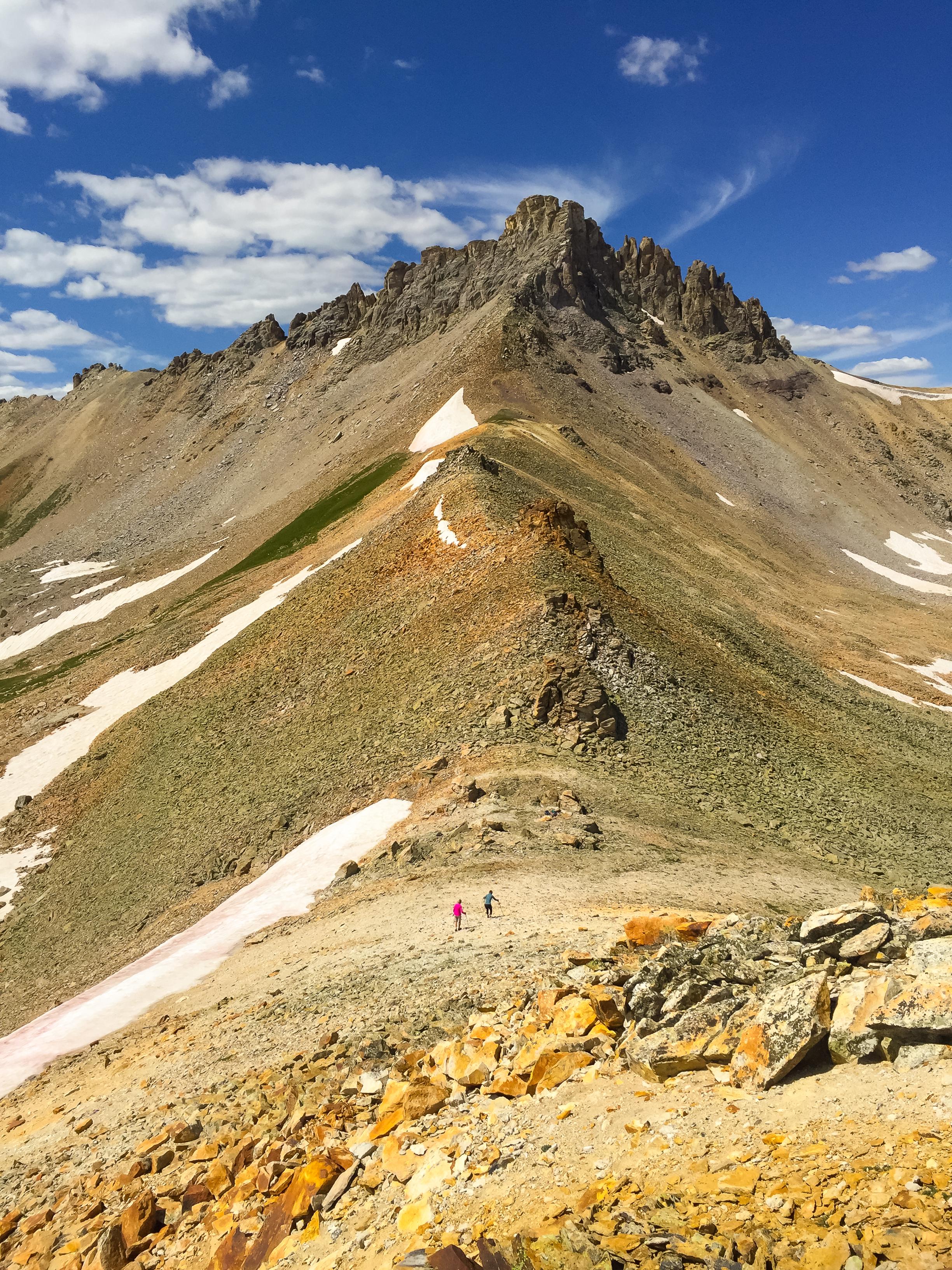 Donna and Lois head down the ridge