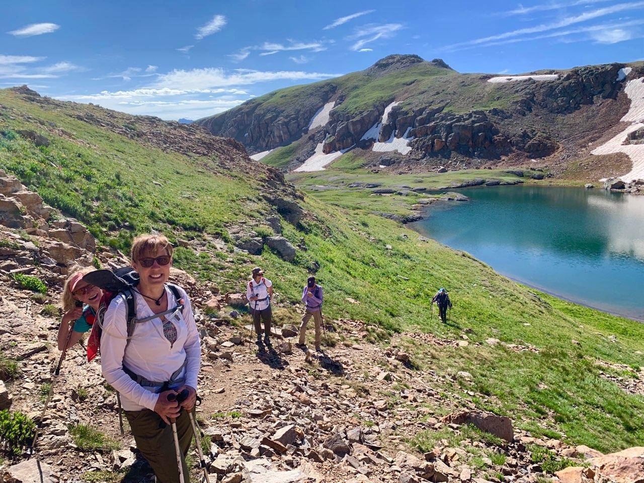 Moxies hike above Bullion King Lake, ©Lisa Vajda
