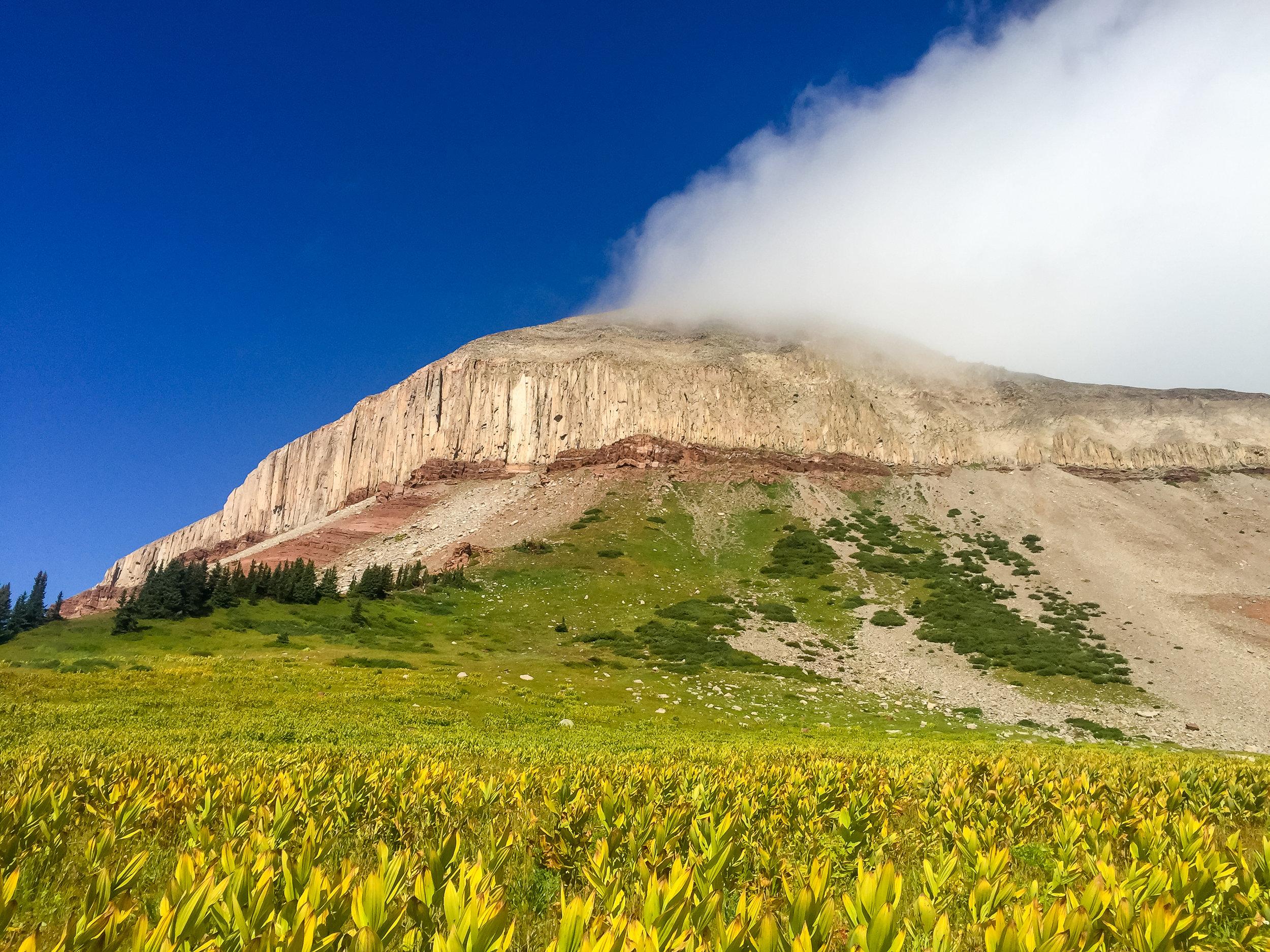 Engineer Mountain looks like it is smoking