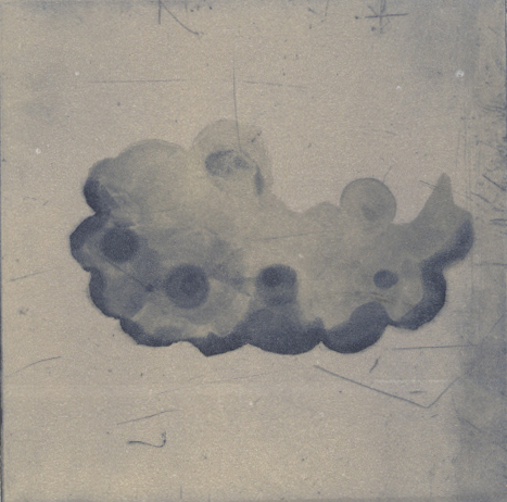 cloud: half formed  etching, 8 x 8 cm