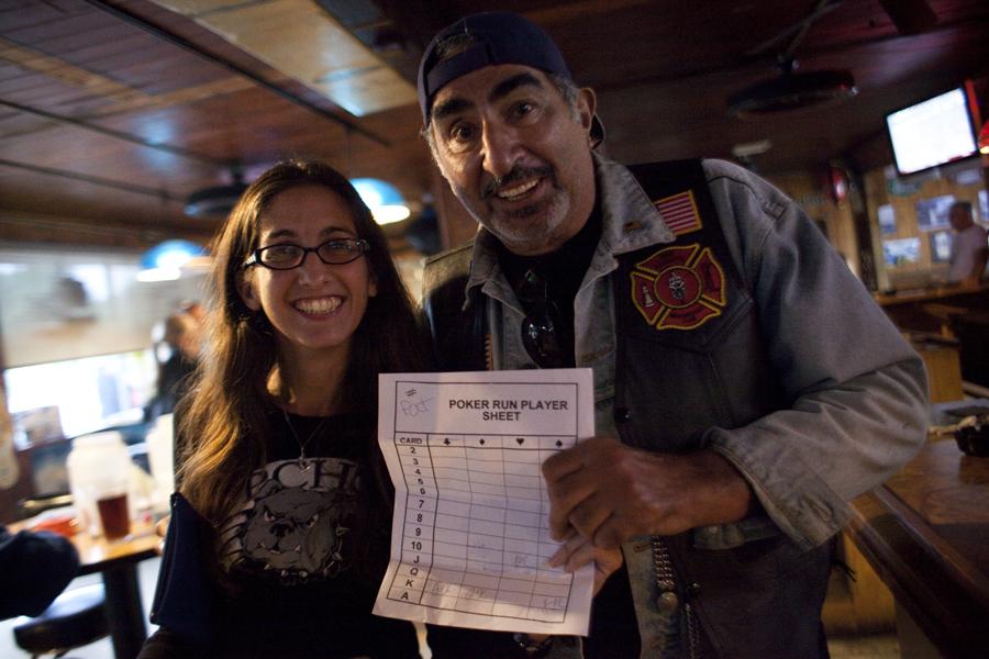 Jennifer Kuiper & Pat, our Poker Run Winner
