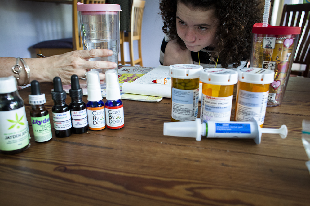 Cannabis oil on the leftVS harmful pharmaceuticals on the right