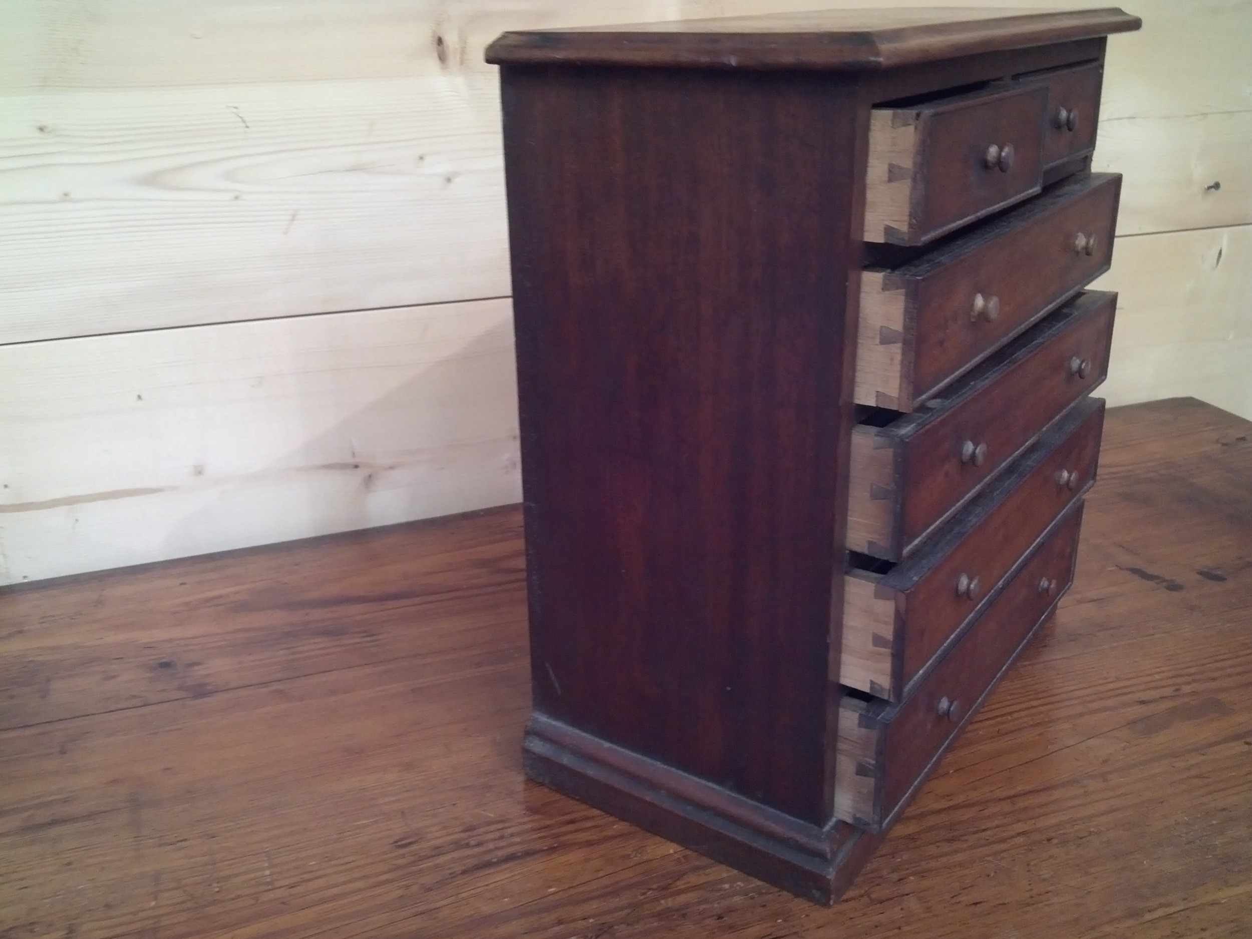Side View of Dovetailed Drawers