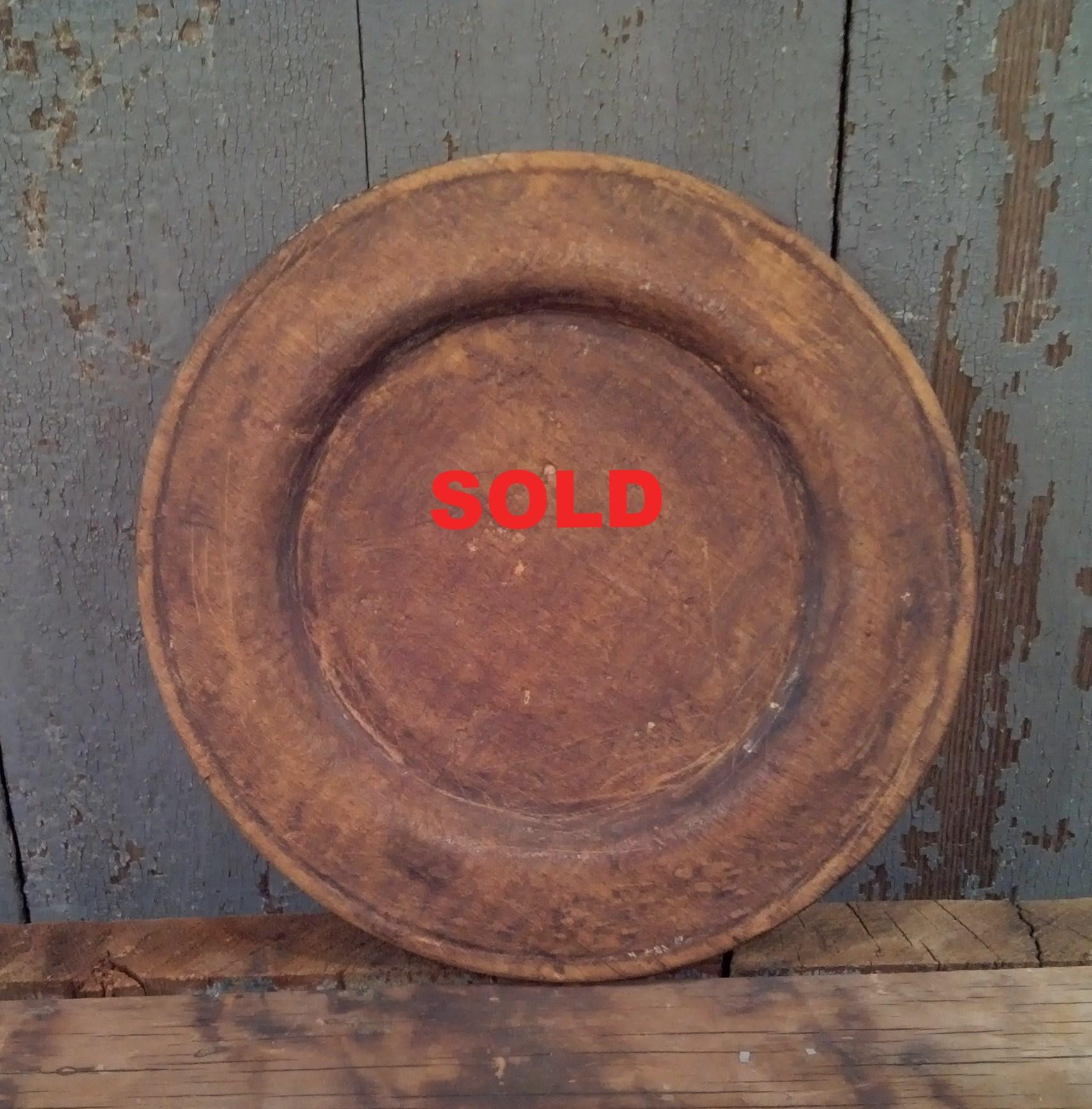 American Treen Plate