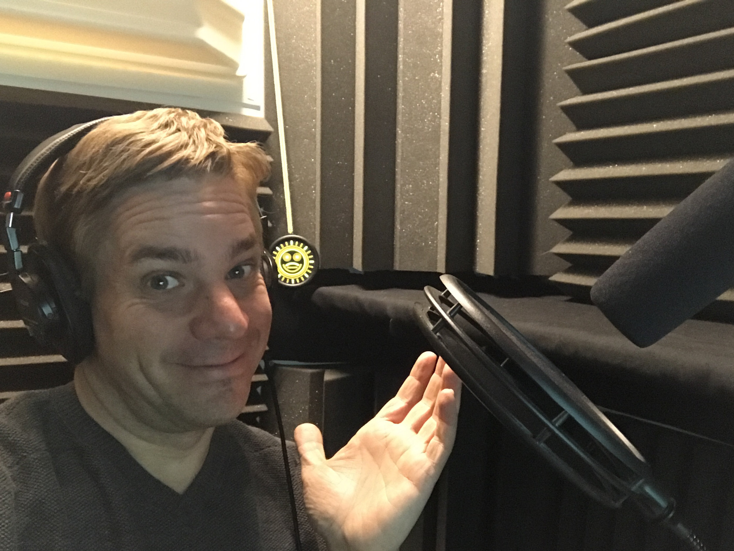 Jamie Buck, a seasoned male voice over artist, can return your voice over  within the hour,  when in studio.