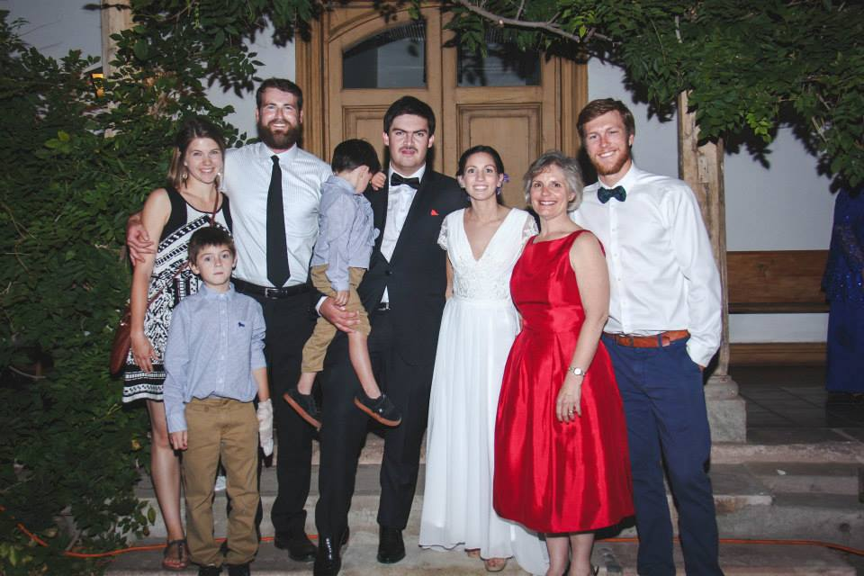at the wedding this march. Lucas is not stoked,my eye is nearly swollen shut after a surfing accident, and there's a huge beard looming in the upper left.