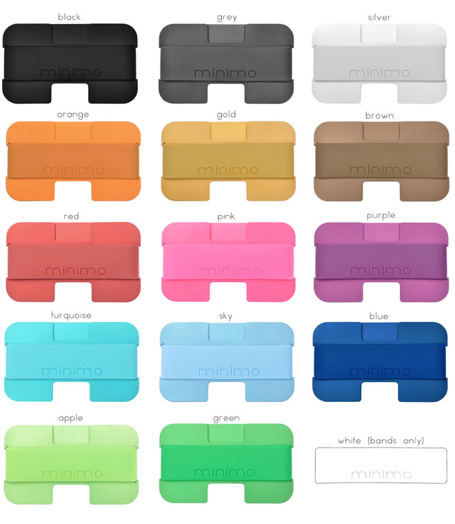 Minimo wallets come in an array of different colours, and the individual components can be customised.