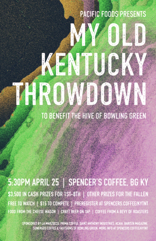 My old kentucky throwdown | 5:30p Thurs , April 26