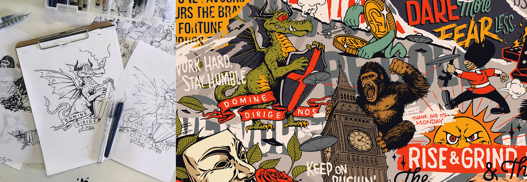 WeWork London Mural