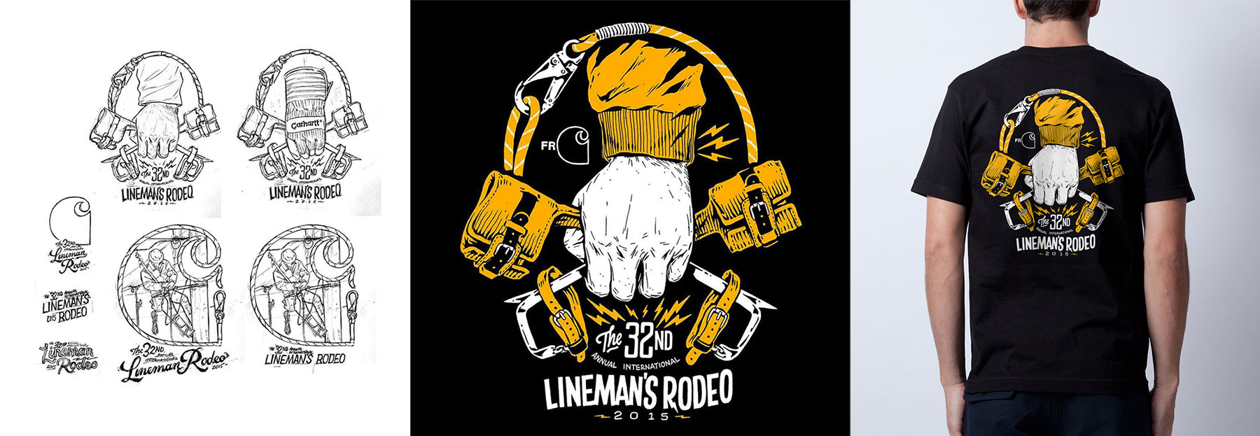 Carhartt Lineman's Rodeo Apparel Graphic