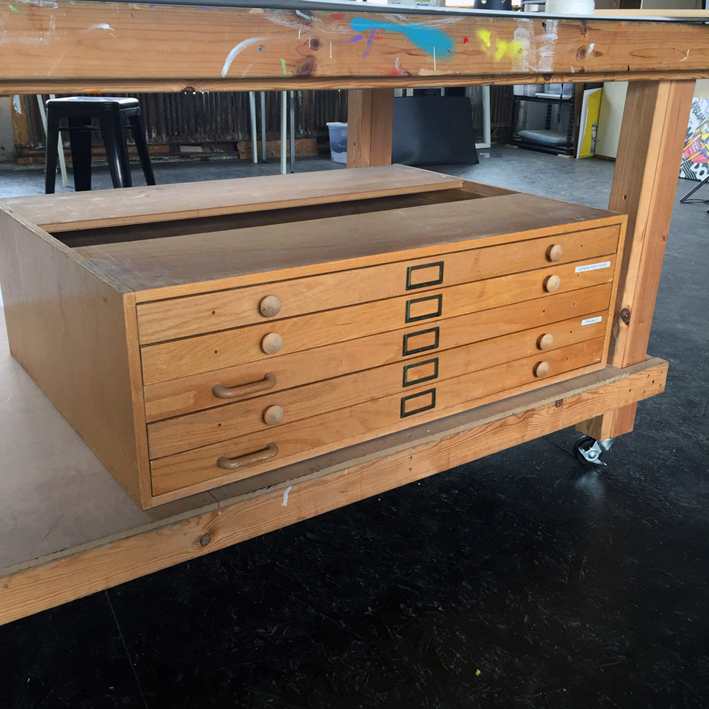 $250 - Wooden Flat File - 45 in x 33 in 15